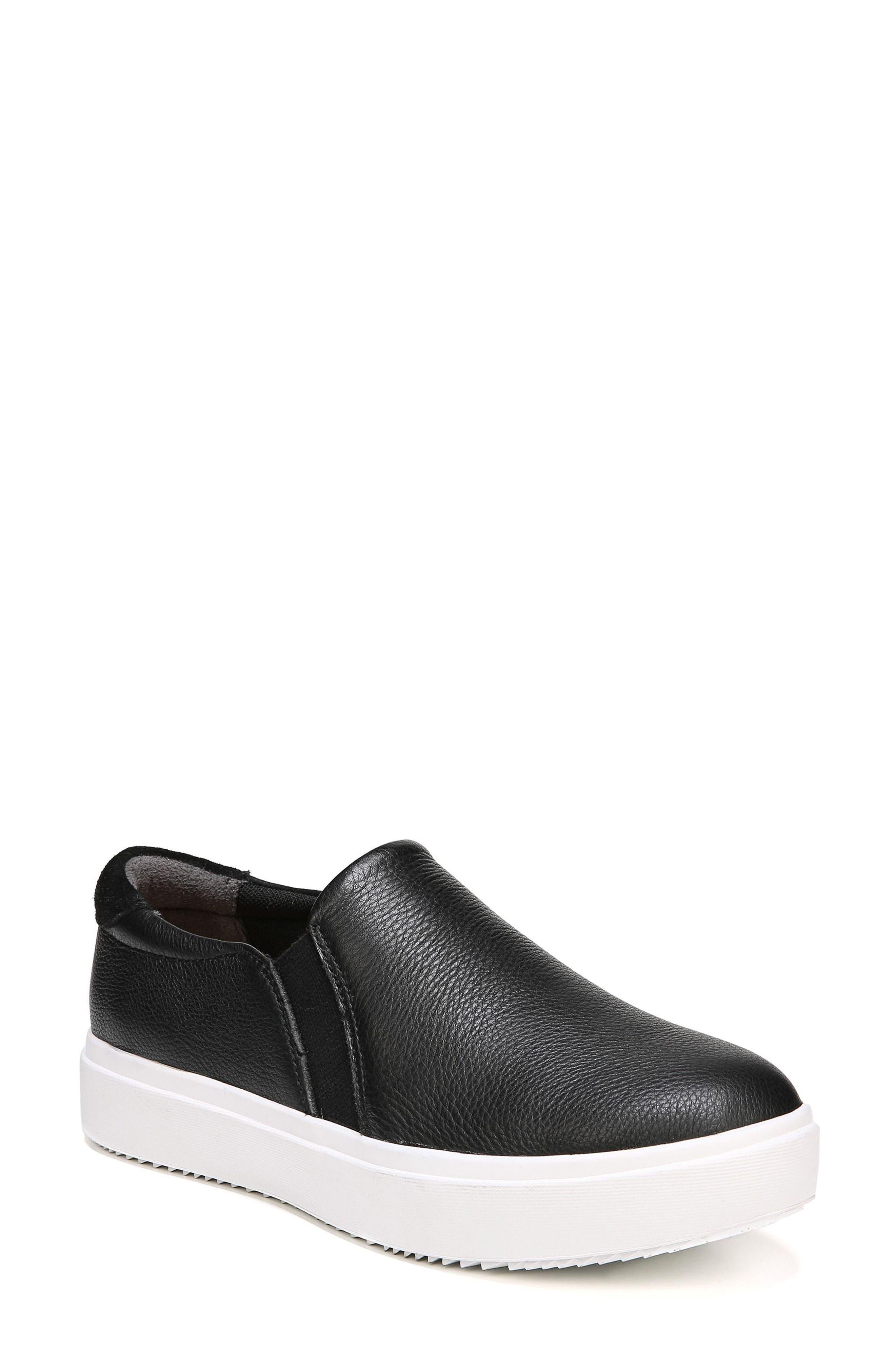 DR. SCHOLL'S, Leta Slip-On Sneaker, Main thumbnail 1, color, BLACK LEATHER