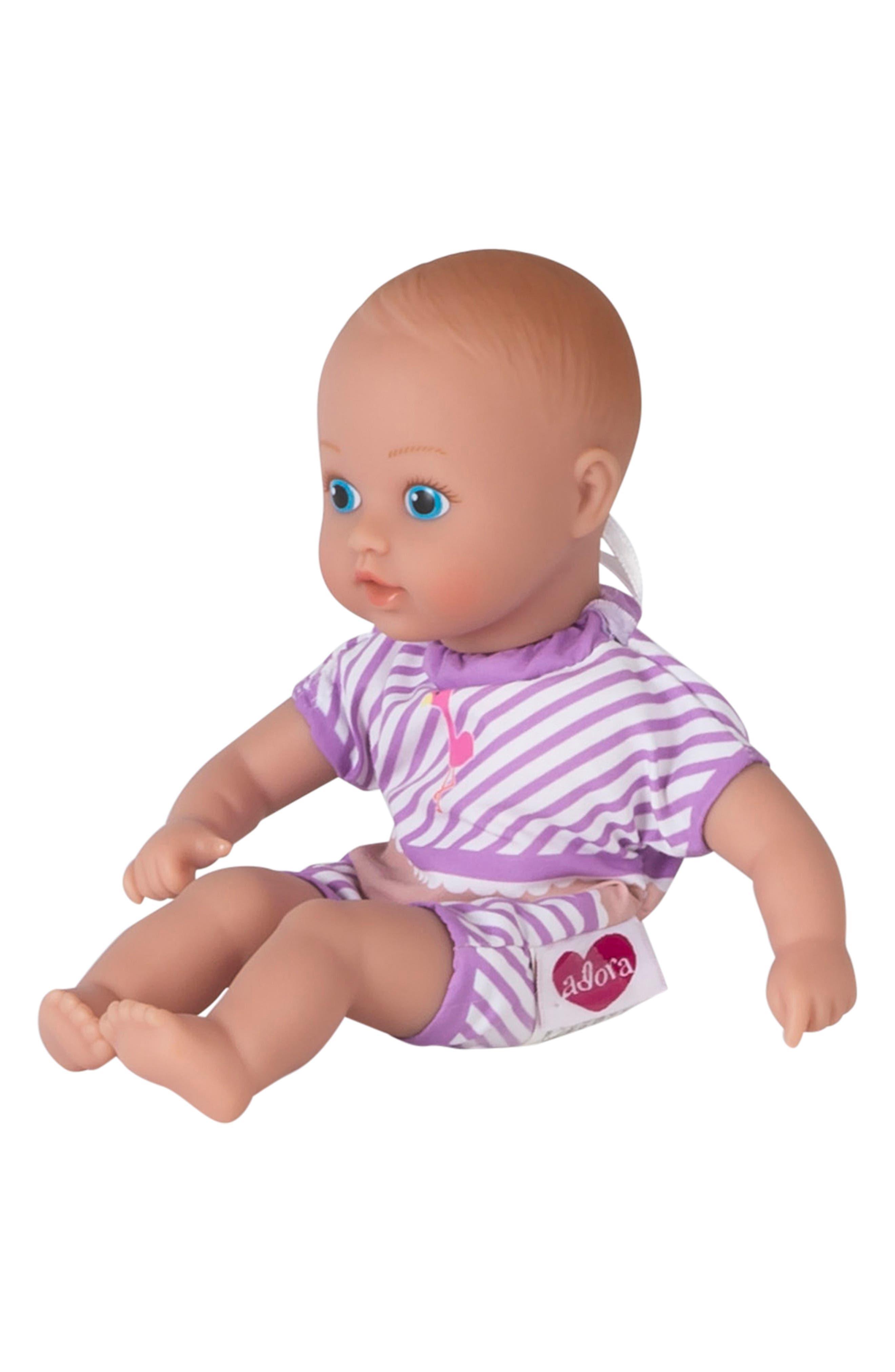 ADORA, Flamingo Splashtime Baby Doll, Alternate thumbnail 3, color, PINK
