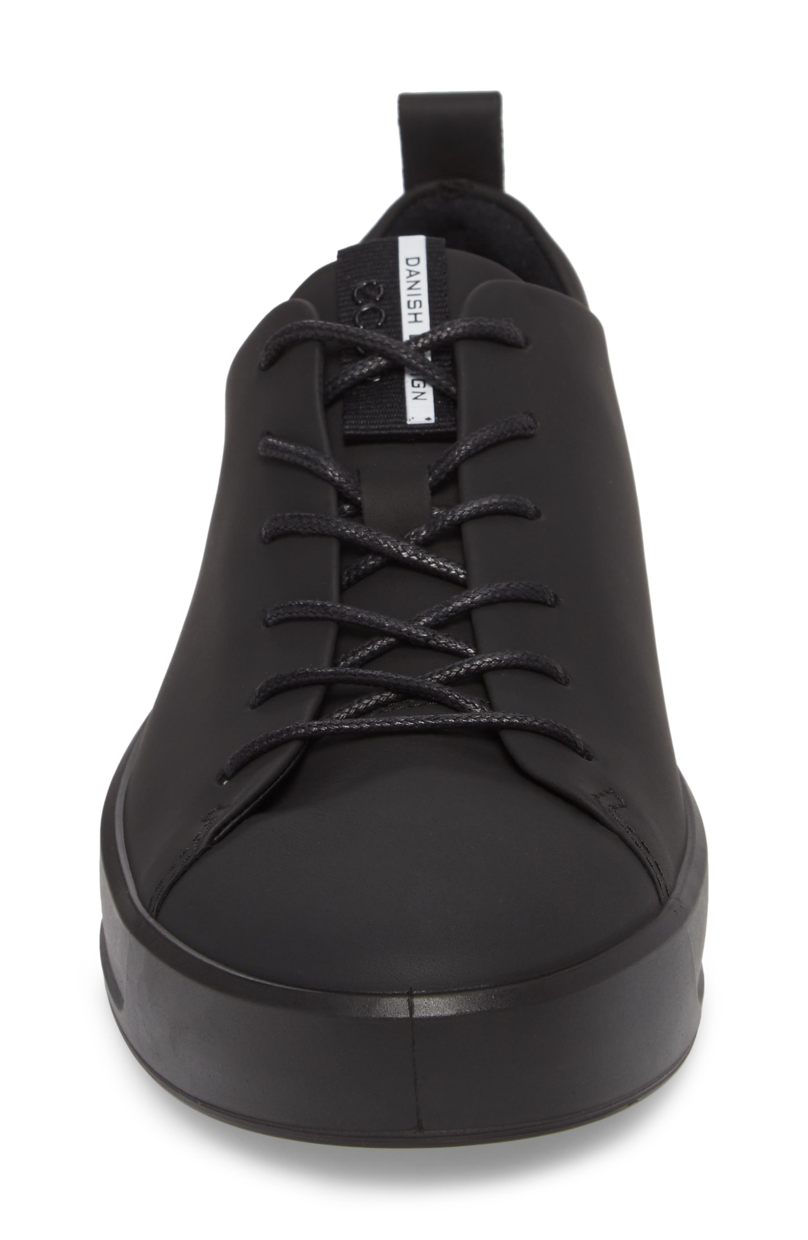 ECCO, Soft 8 Sneaker, Alternate thumbnail 4, color, BLACK LEATHER