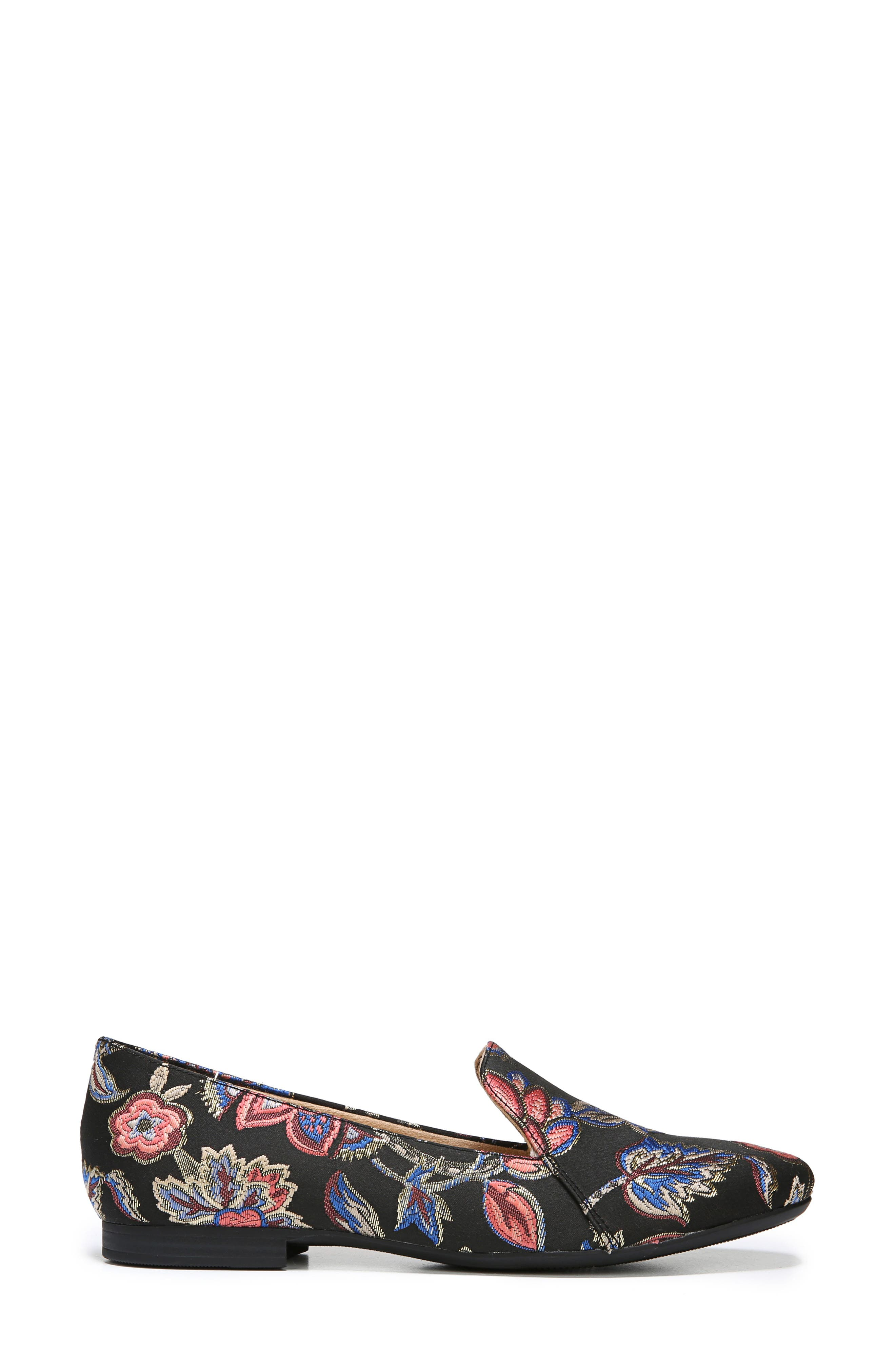 NATURALIZER, Emiline Flat Loafer, Alternate thumbnail 3, color, BROCADE