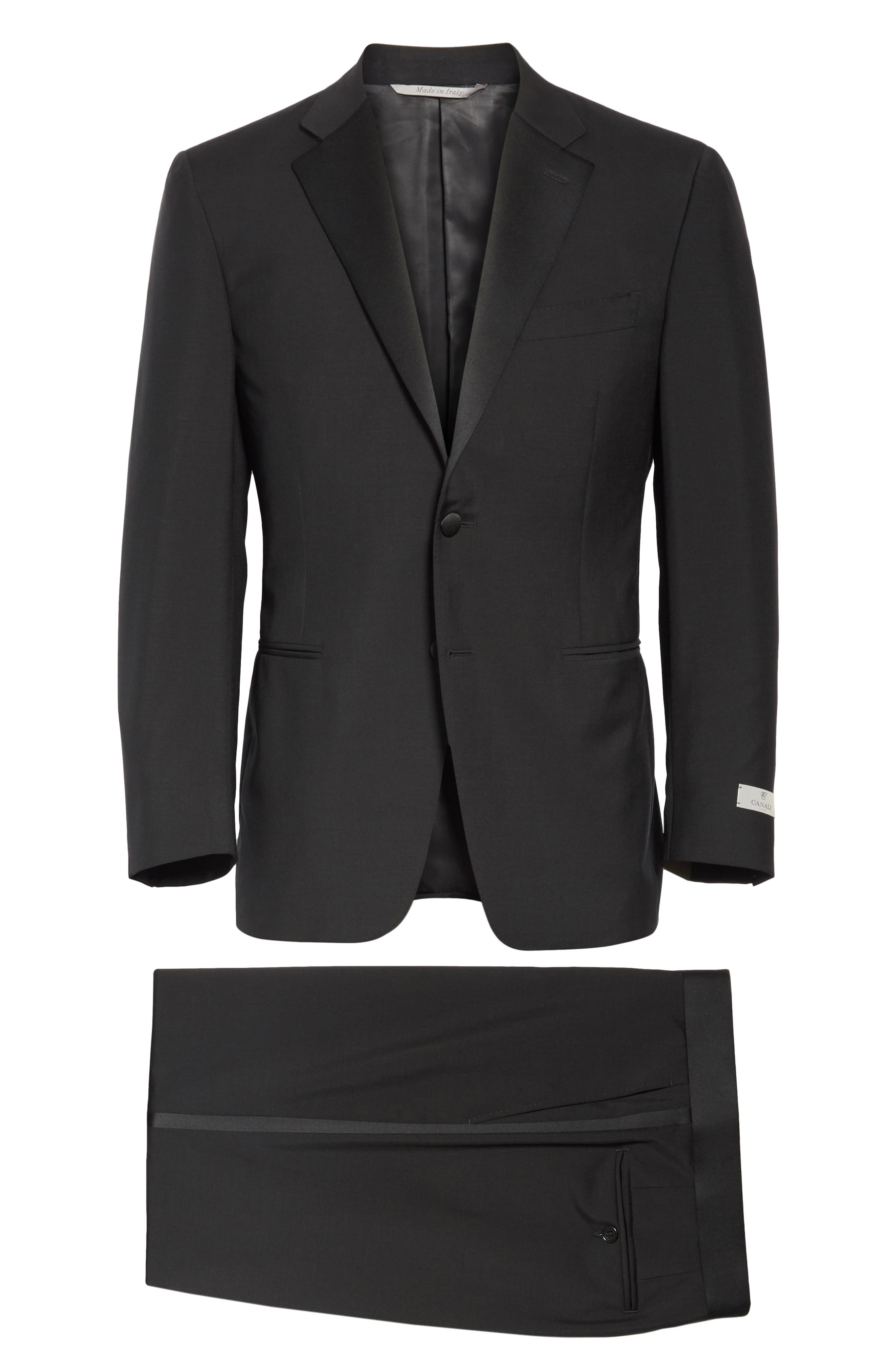 CANALI, 13000 Classic Fit Wool & Mohair Tuxedo, Alternate thumbnail 10, color, BLACK