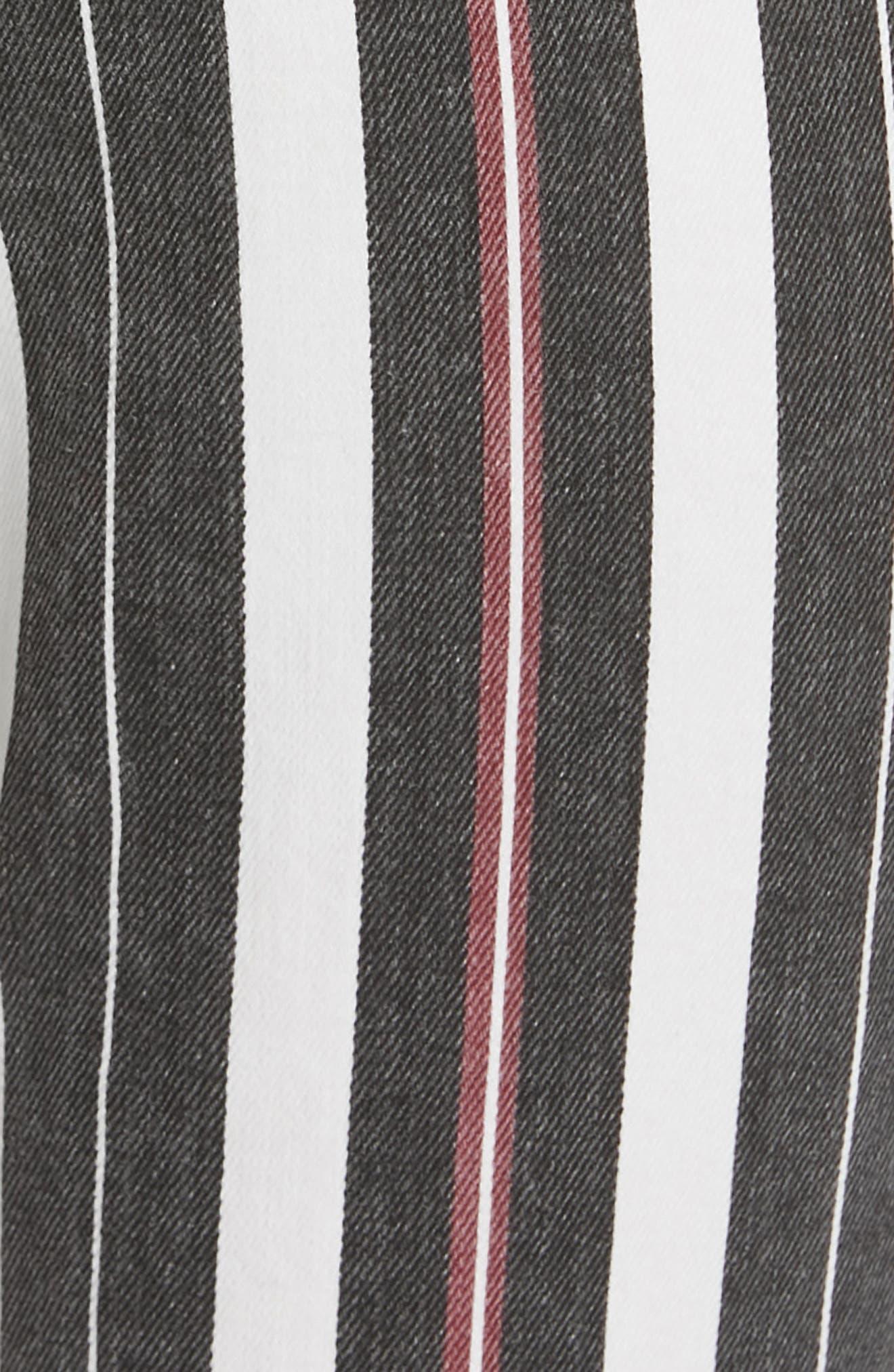 FRAME, Le Sylvie Band Stripe Straight Leg Jeans, Alternate thumbnail 5, color, BAND STRIPE