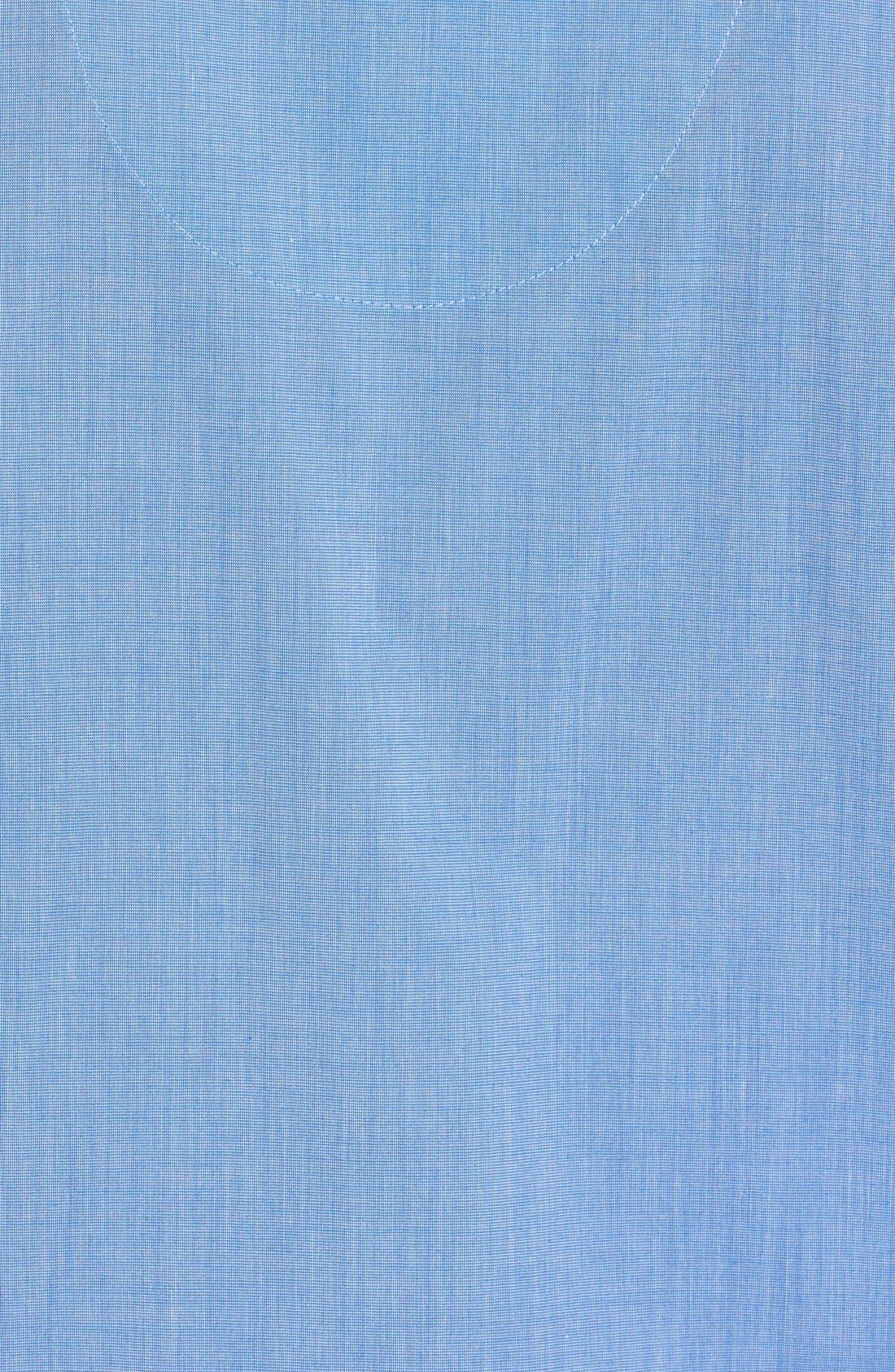 MAJESTIC INTERNATIONAL, Cotton Blend Pajamas, Alternate thumbnail 3, color, BLUE