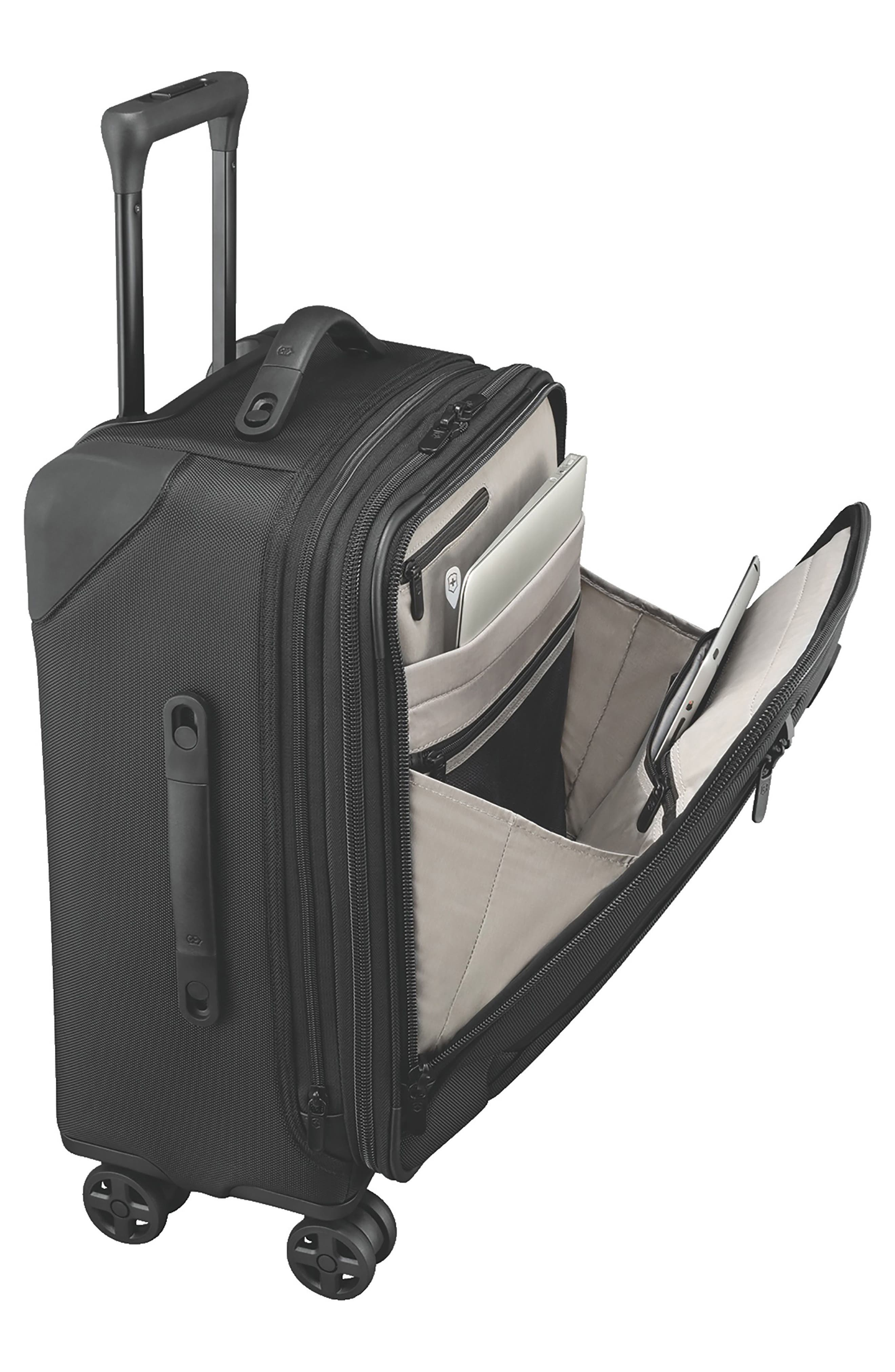 VICTORINOX SWISS ARMY<SUP>®</SUP>, Lexicon 2.0 24-Inch Wheeled Suitcase, Alternate thumbnail 4, color, BLACK