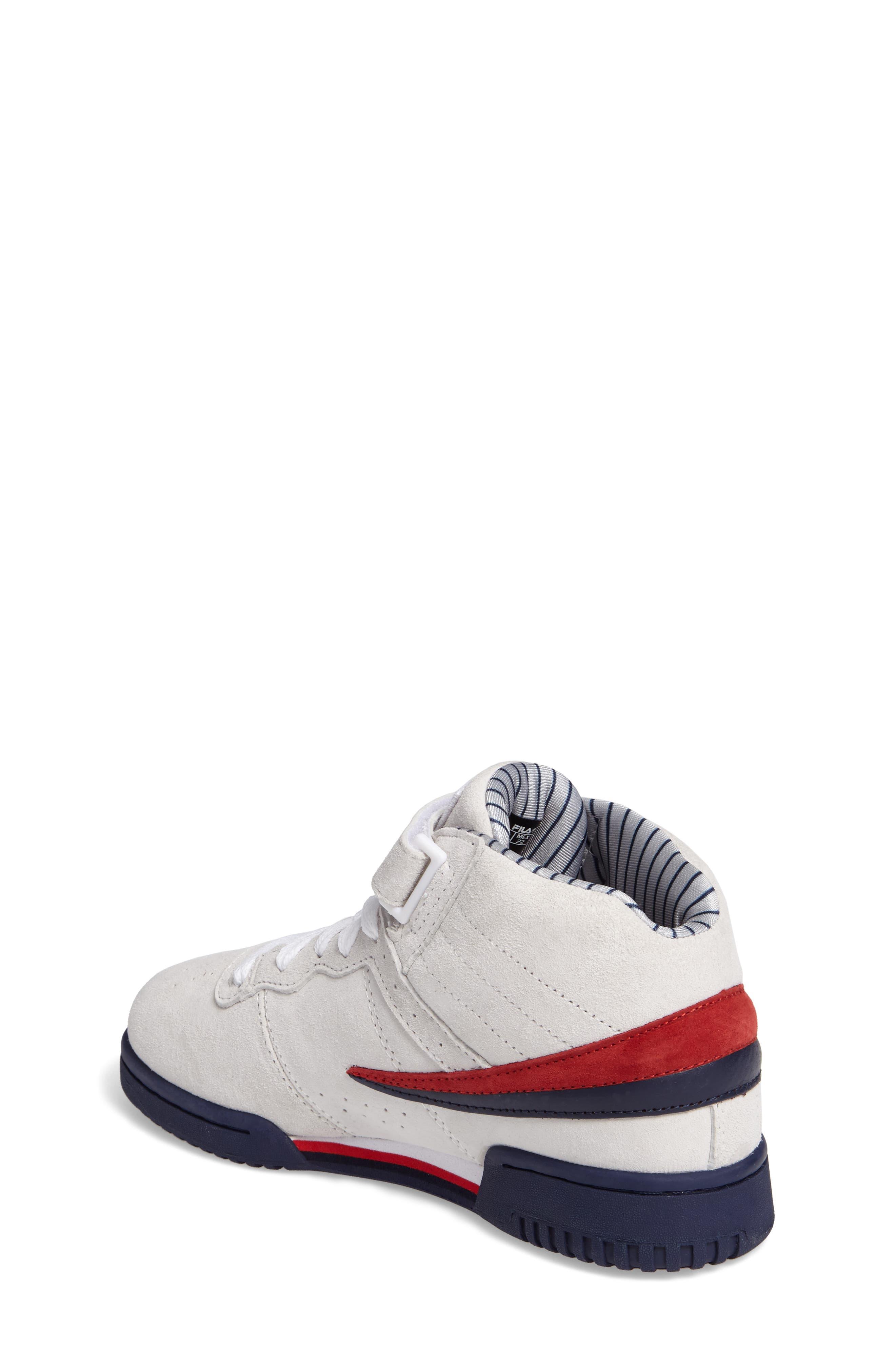 FILA, F-13 Mid Pinstripe Sneaker, Alternate thumbnail 2, color, 150