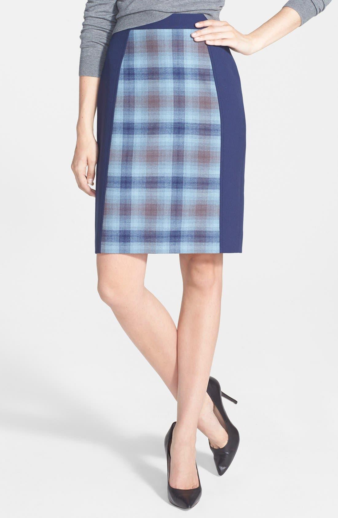 HALOGEN<SUP>®</SUP>, Seamed Pencil Skirt, Main thumbnail 1, color, 030