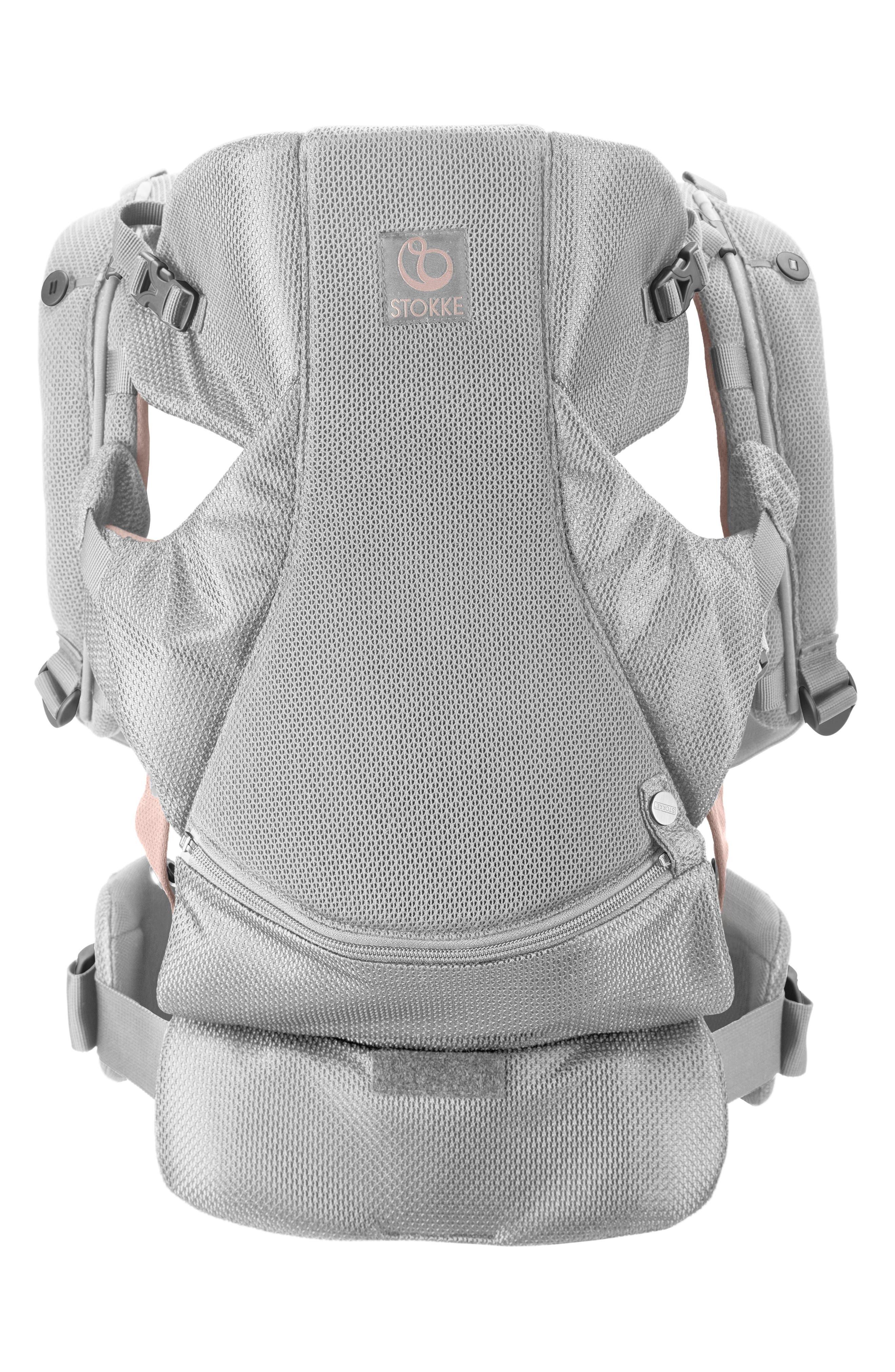 STOKKE, MyCarrier Front/Back Baby Carrier, Alternate thumbnail 2, color, PINK MESH