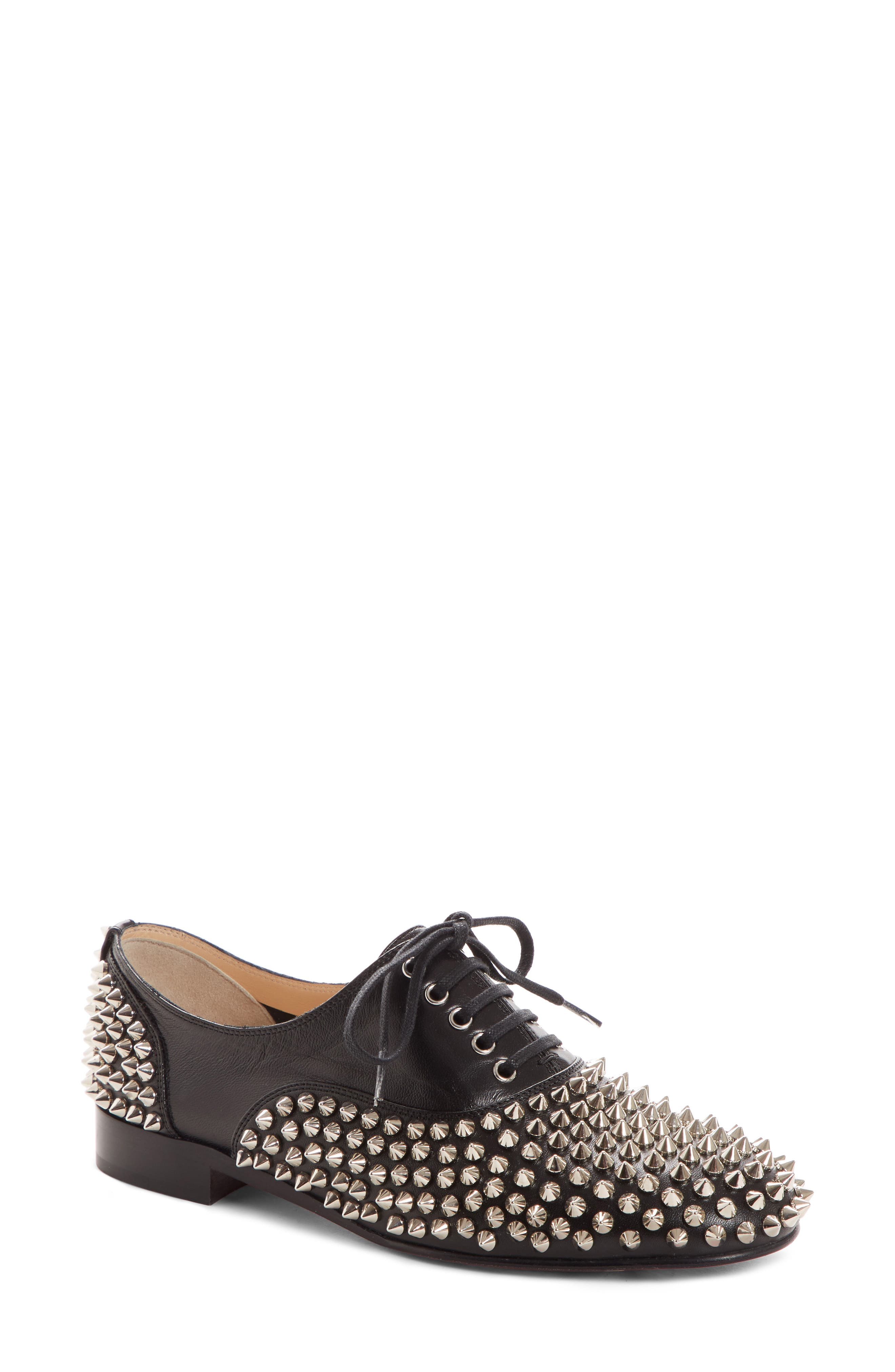 724b49599726 Christian Louboutin Freddy Spiked Loafer - Black