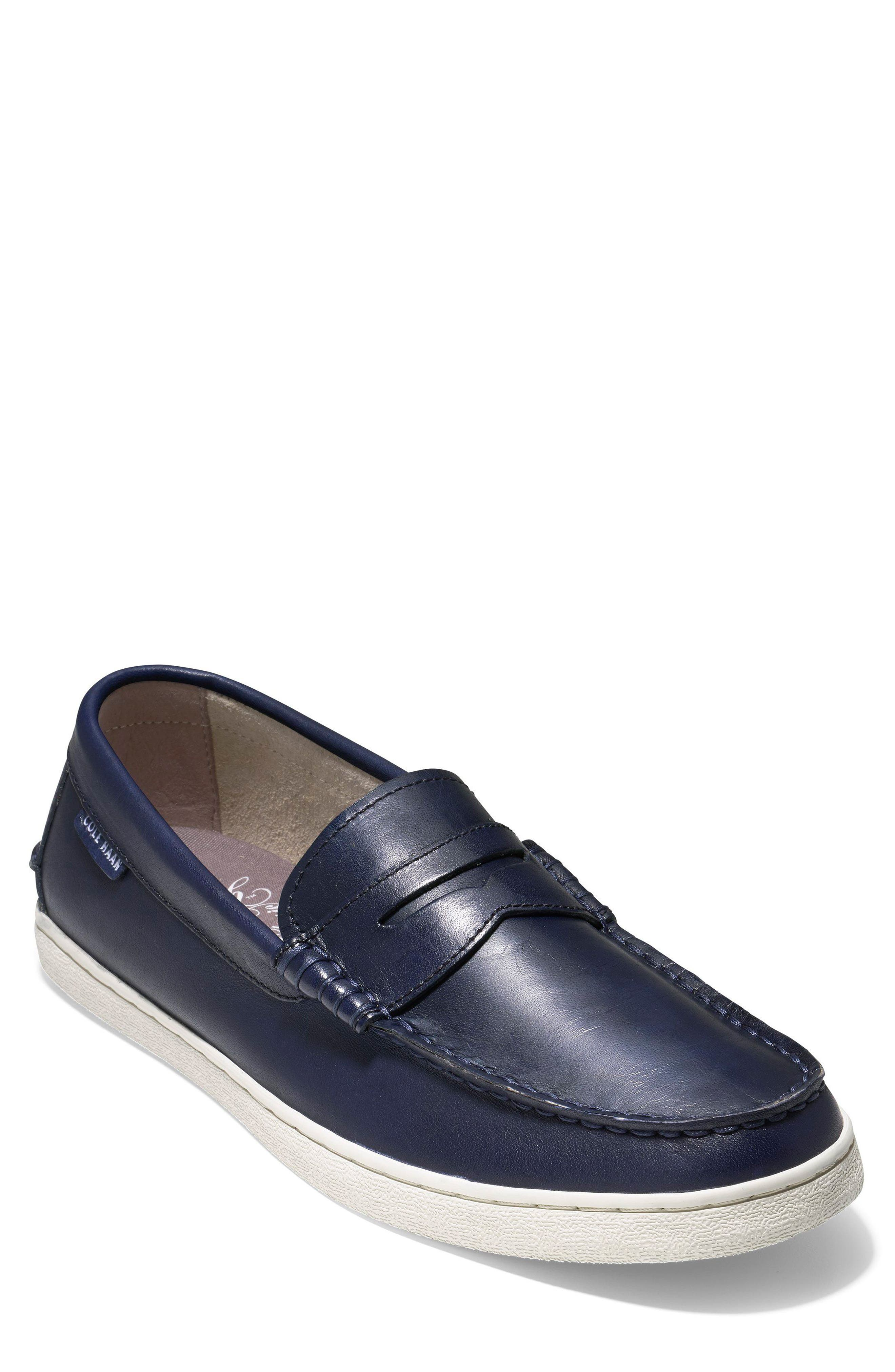 COLE HAAN, Pinch Penny Loafer, Main thumbnail 1, color, BLAZER BLUE LEATHER