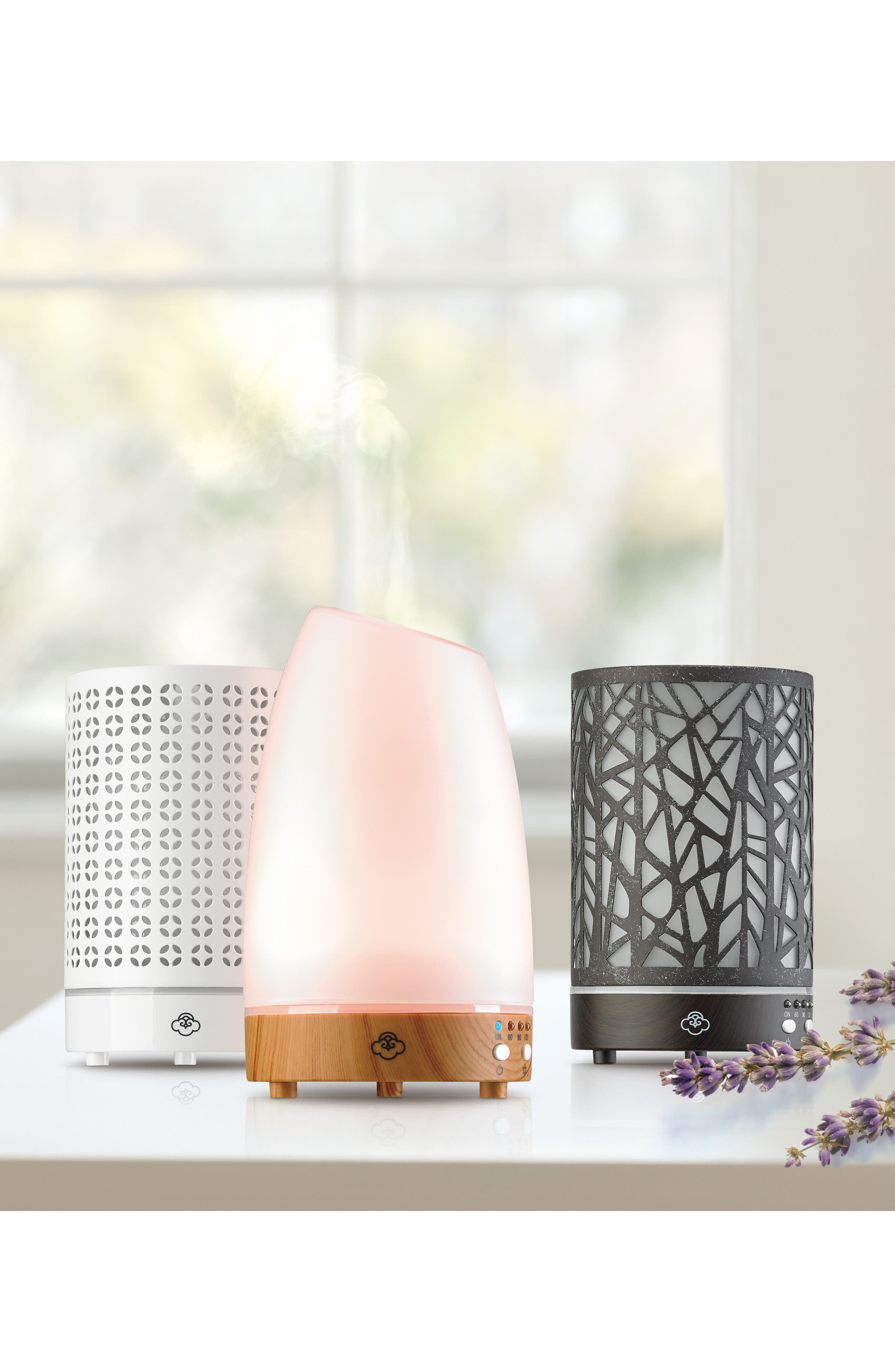 SERENE HOUSE, Cool Mist Cosmos Scentilizer Ultrasonic Aroma Diffuser, Alternate thumbnail 2, color, WHITE