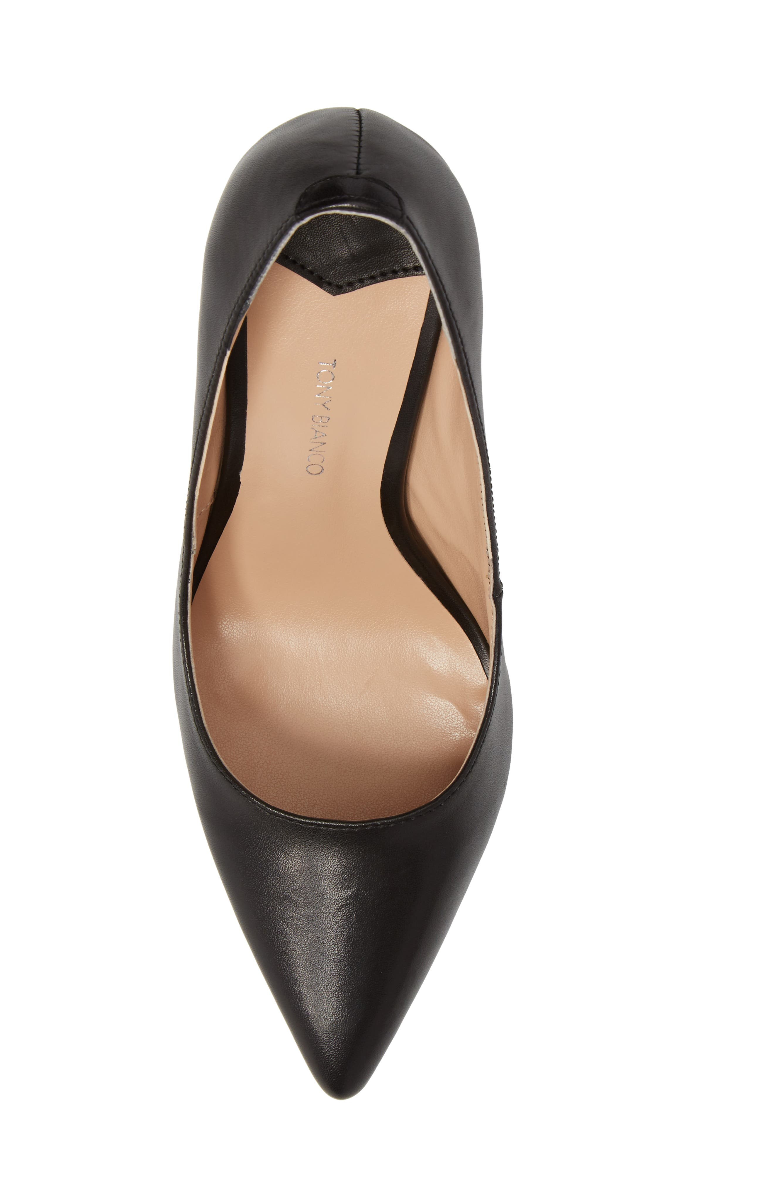 TONY BIANCO, Lotus Pointy Toe Pump, Alternate thumbnail 5, color, 001