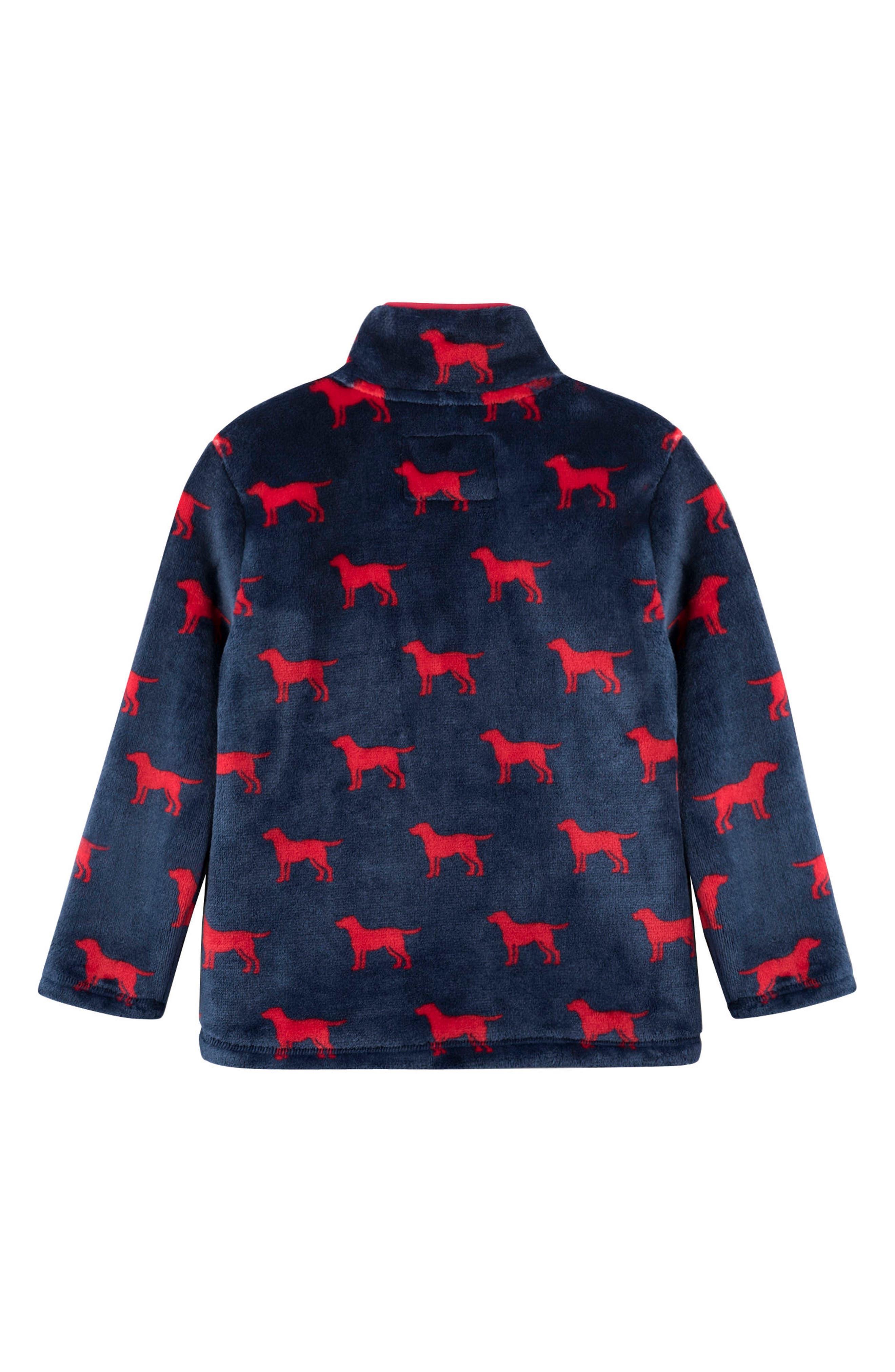 HATLEY, Red Labs Fleece Jacket, Alternate thumbnail 2, color, 400