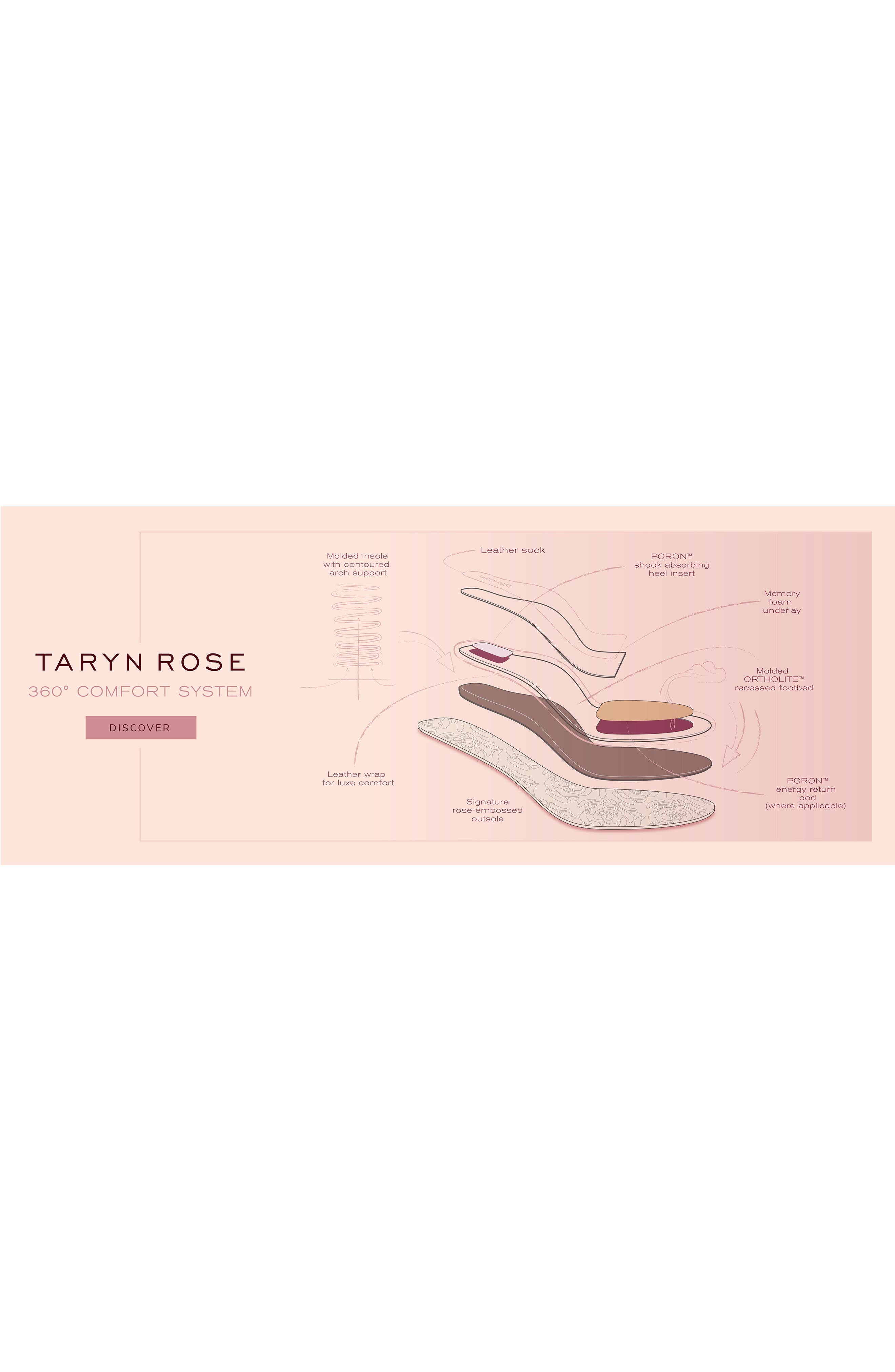 TARYN ROSE, Rosalyn Ballet Flat, Alternate thumbnail 7, color, BLACK SUEDE