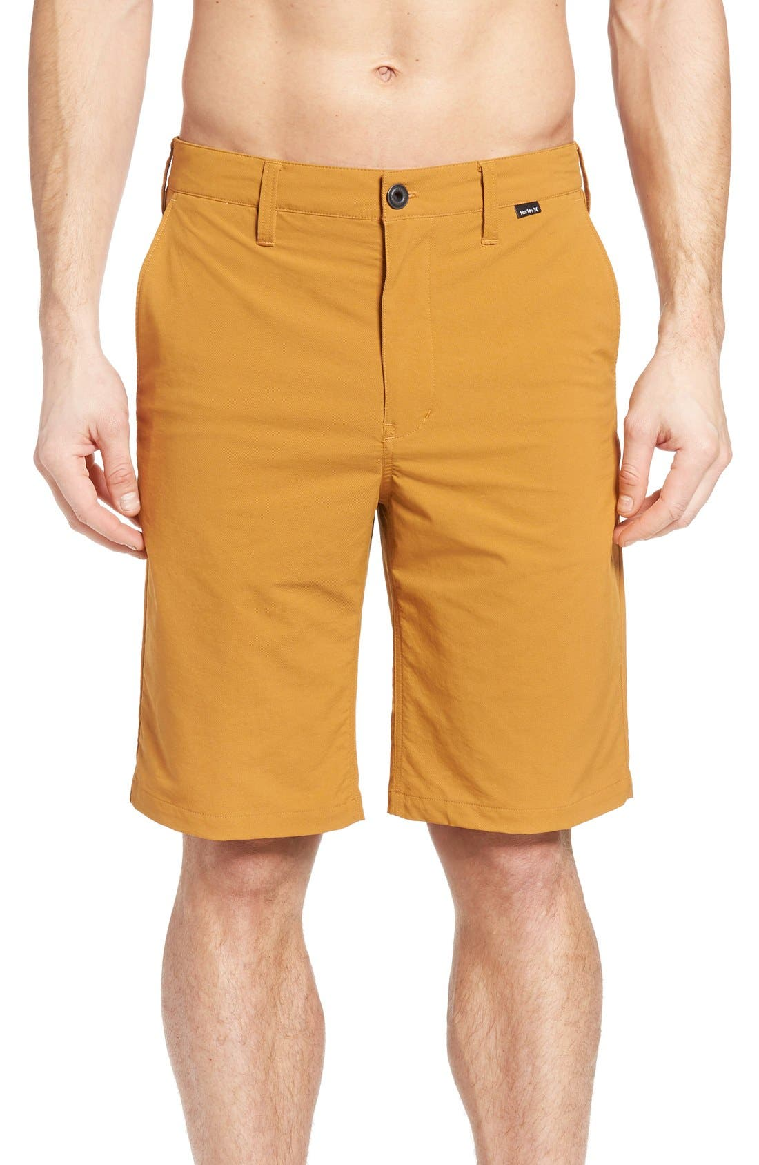HURLEY 'Dry Out' Dri-FIT<sup>™</sup> Chino Shorts, Main, color, NEW BLACK