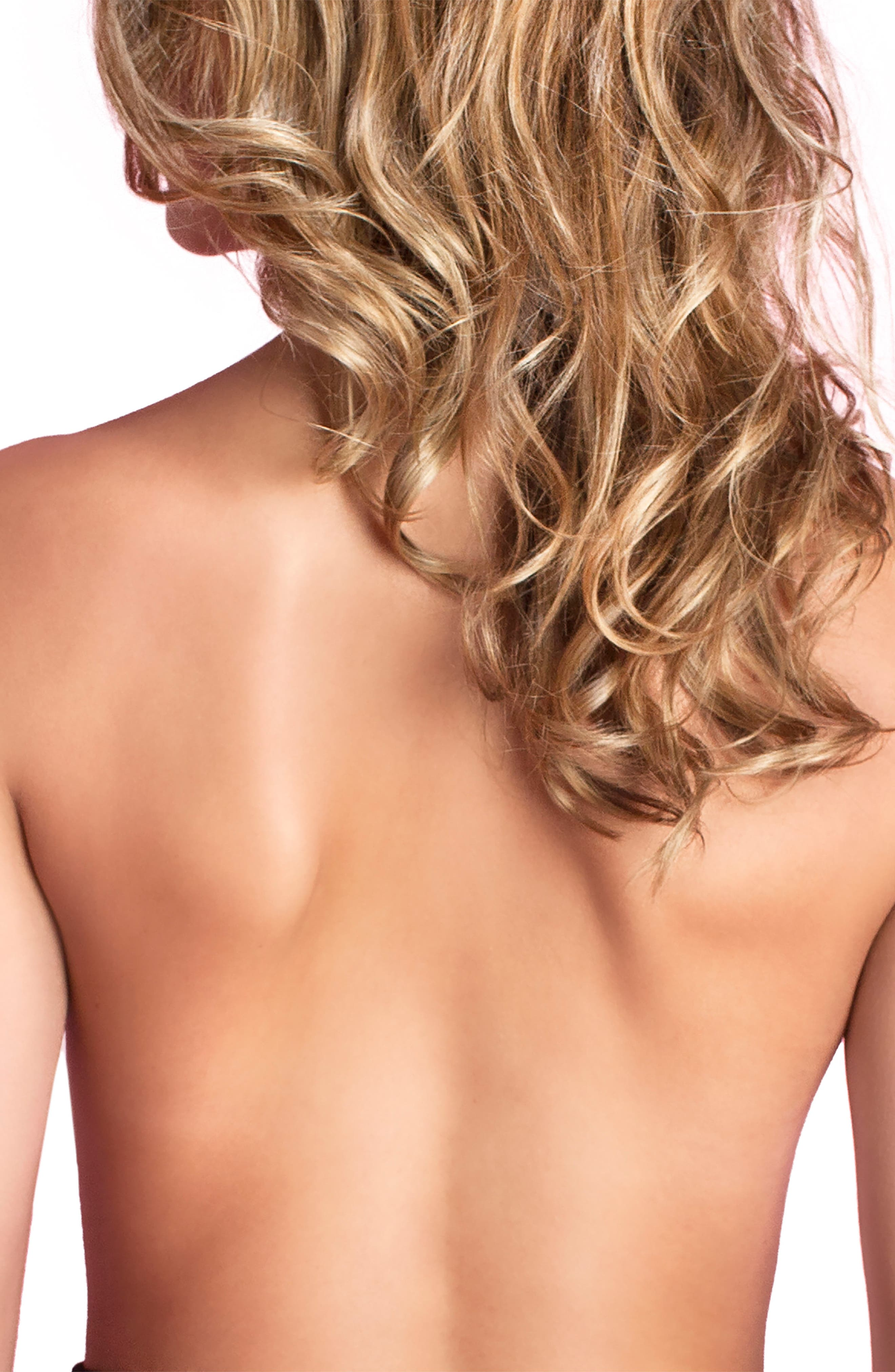NORDSTROM LINGERIE, Cleavage Enhancing Adhesive Silicone Bra, Alternate thumbnail 3, color, NUDE