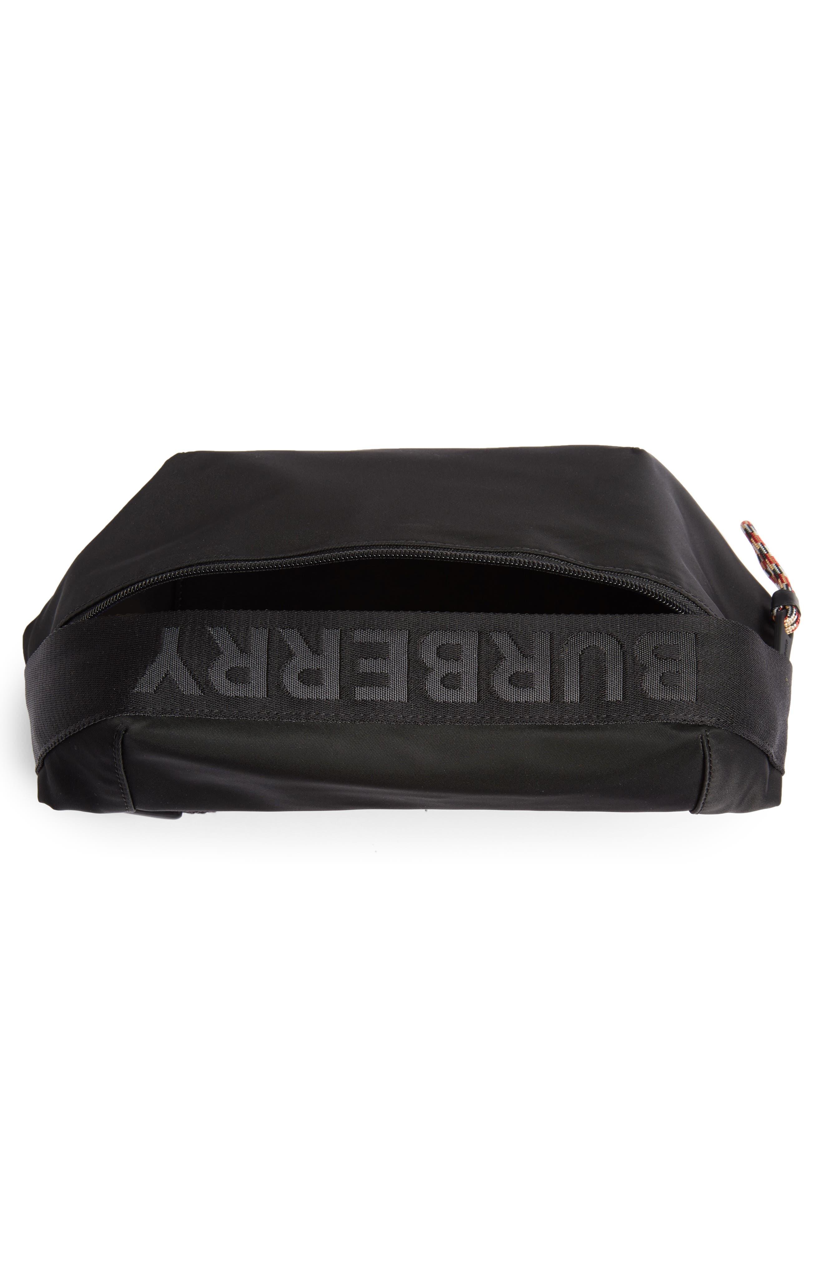 BURBERRY, Medium Sonny Logo Belt Bag, Alternate thumbnail 5, color, BLACK