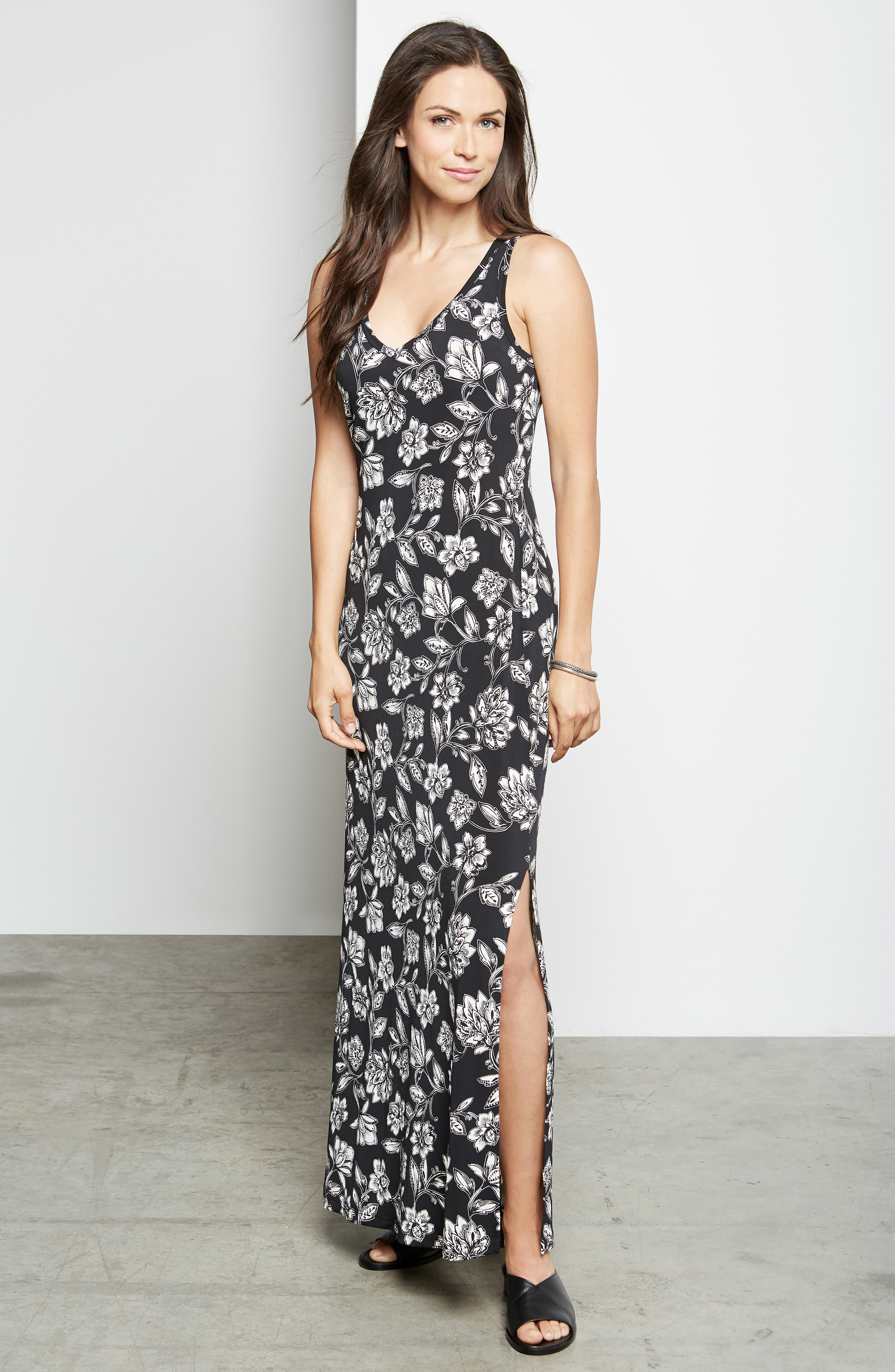 KAREN KANE, Floral Print Maxi Dress, Alternate thumbnail 4, color, PRINT