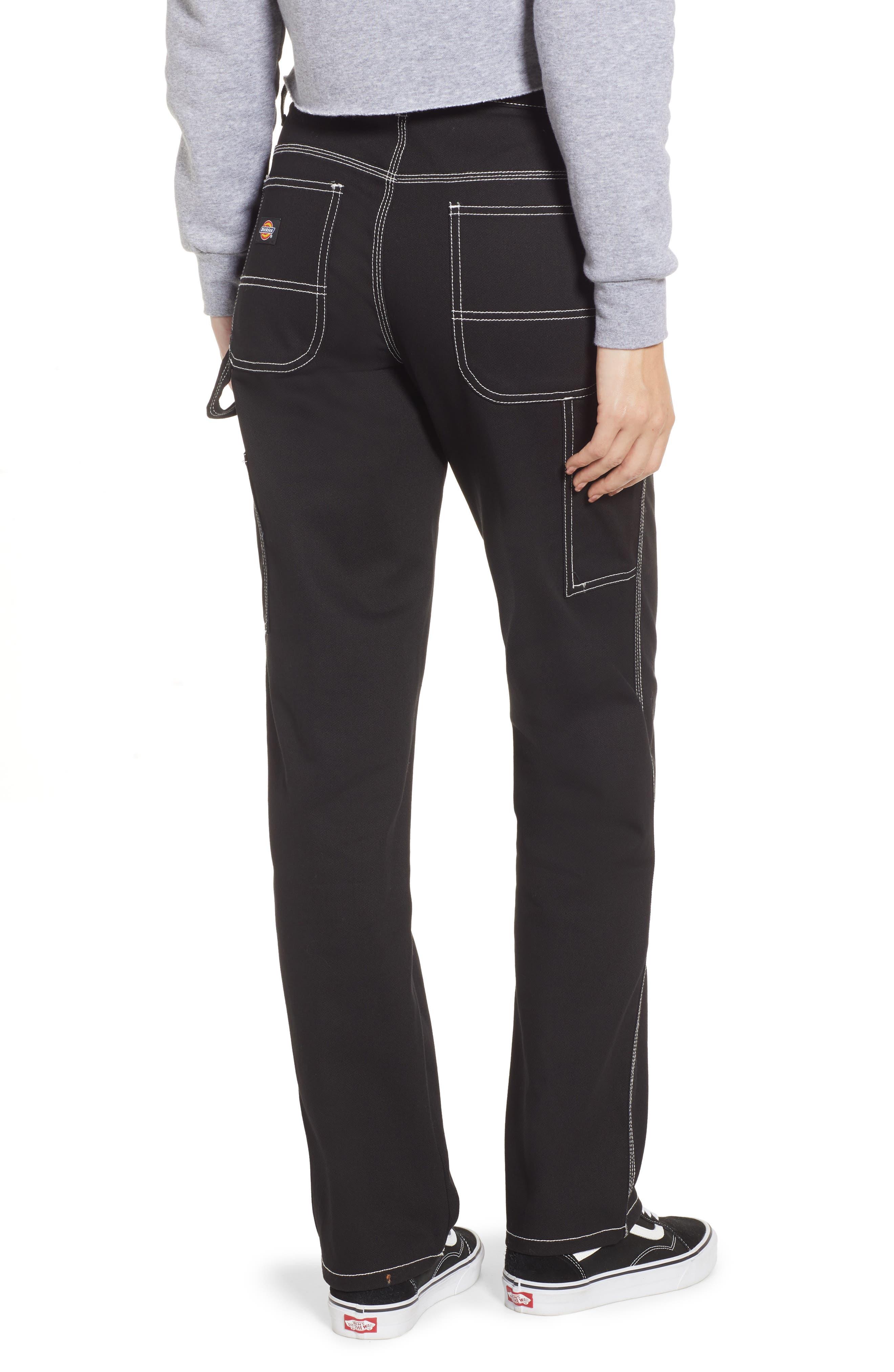 DICKIES, Relaxed Fit Carpenter Pants, Alternate thumbnail 2, color, BLACK