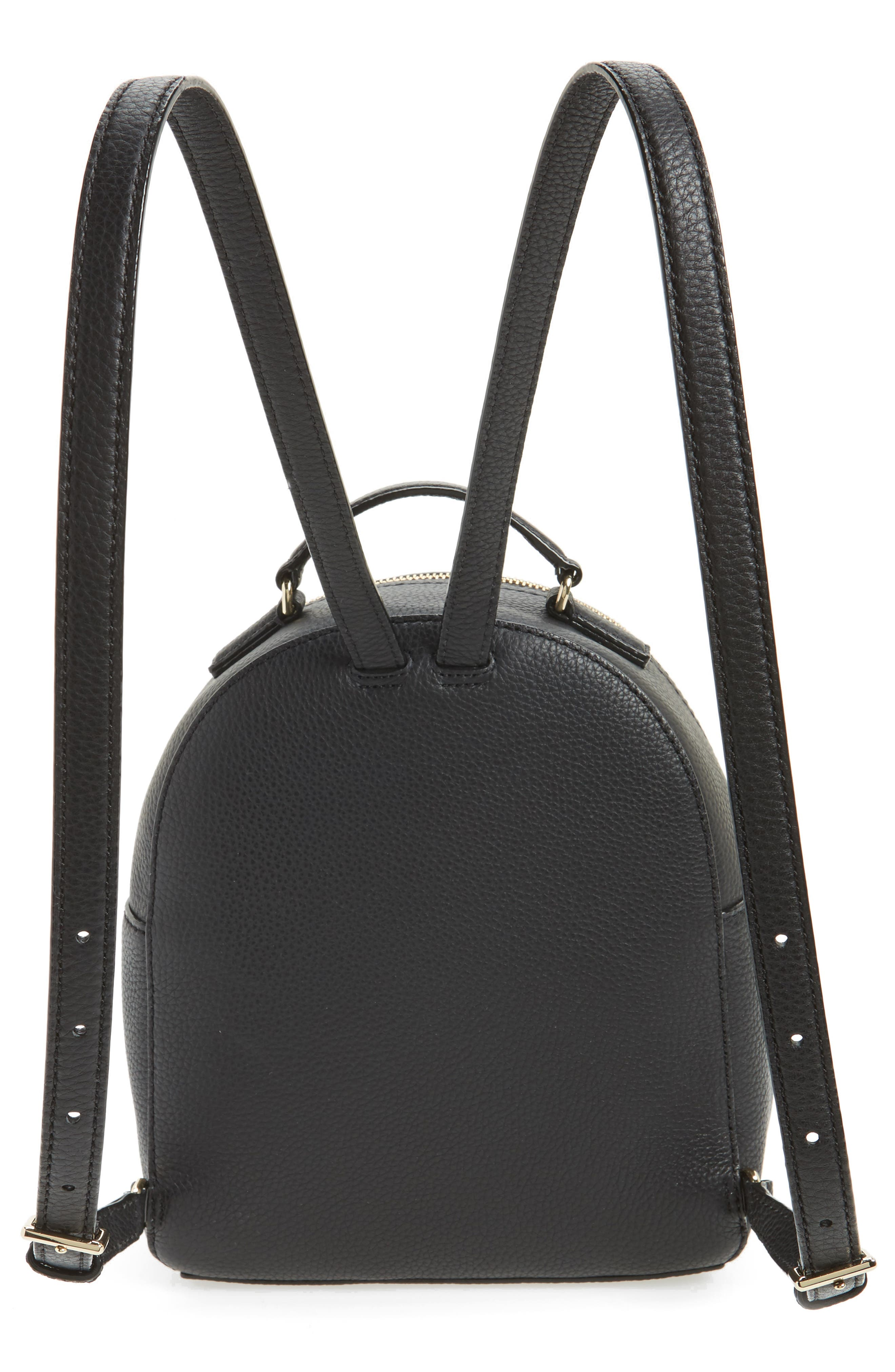 KATE SPADE NEW YORK, jackson street - keleigh leather backpack, Alternate thumbnail 3, color, 001