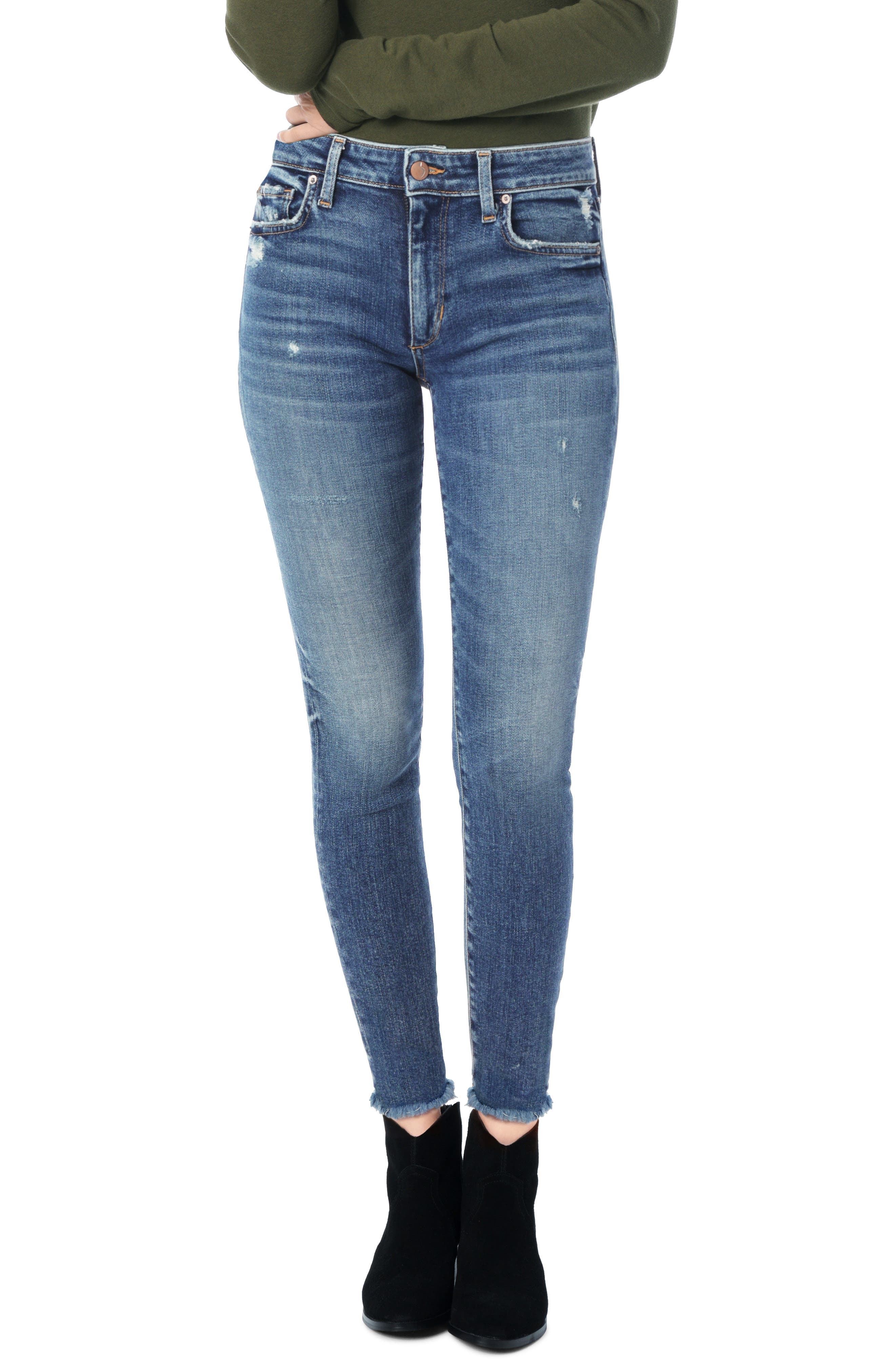 JOE'S Charlie High Waist Ankle Skinny Jeans, Main, color, GEORGINA