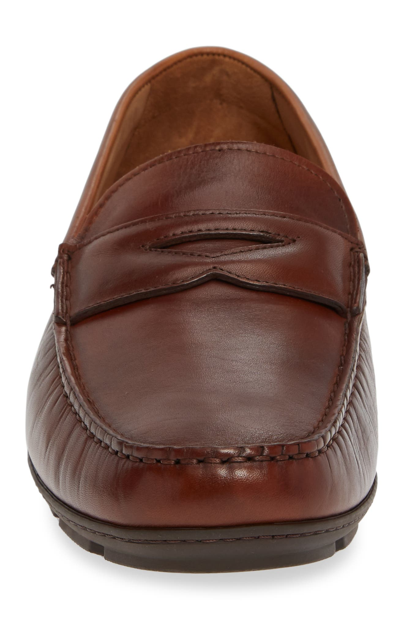 VINCE CAMUTO, Ditto Driving Shoe, Alternate thumbnail 4, color, COGNAC LEATHER