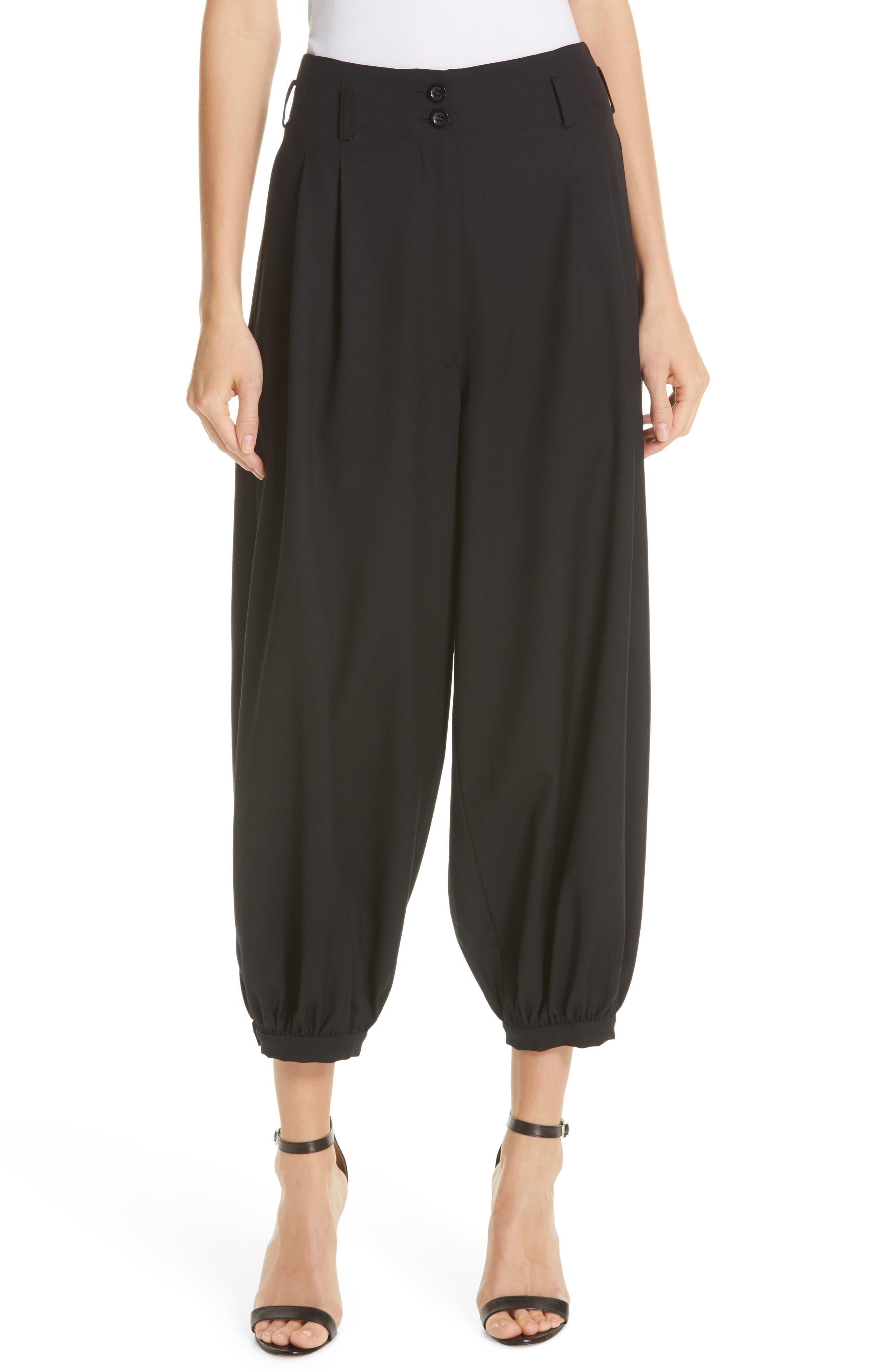 NILI LOTAN Wynona Harem Pants, Main, color, BLACK