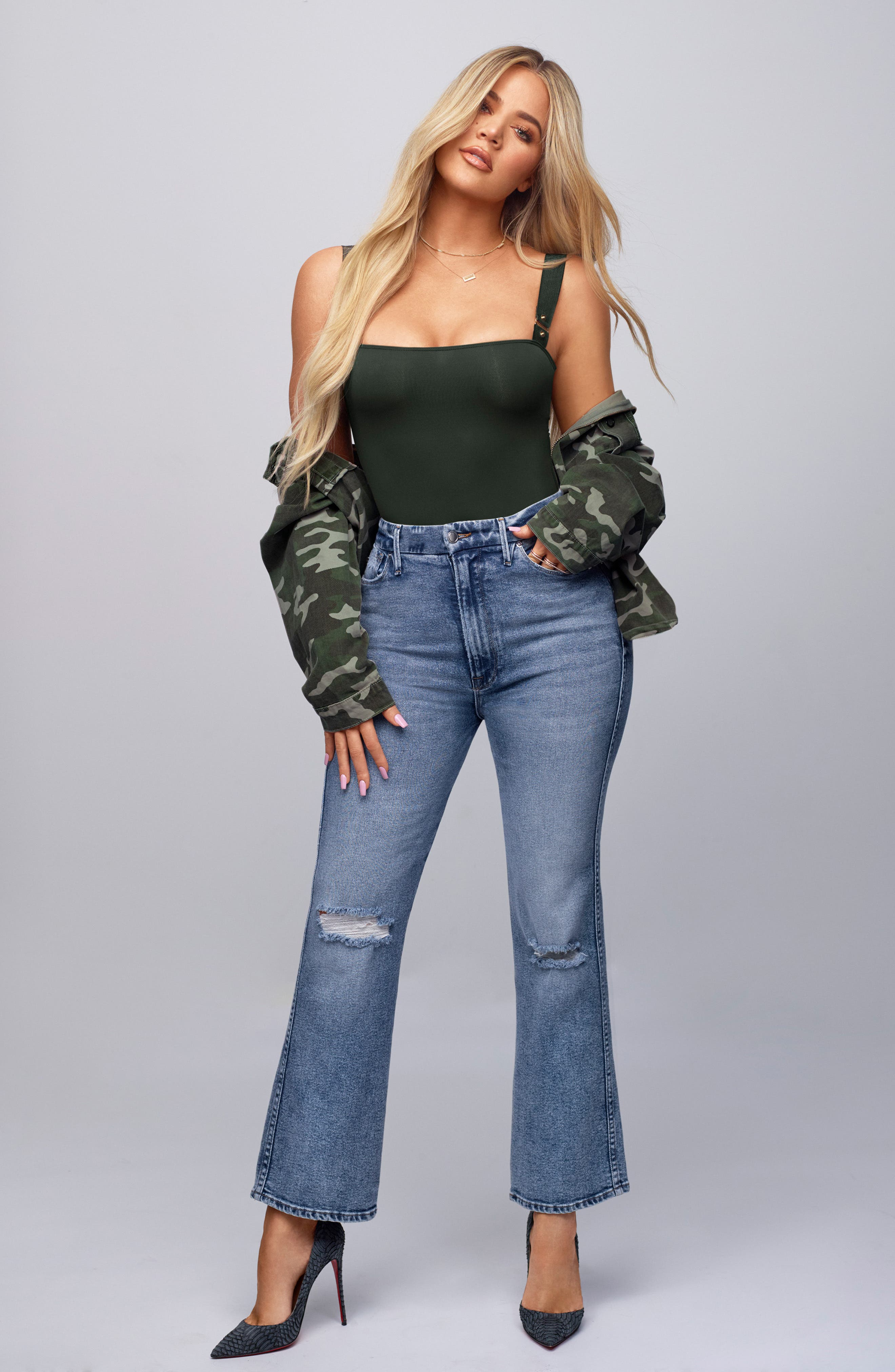 GOOD AMERICAN, Good Curve High Waist Ankle Straight Leg Jeans, Alternate thumbnail 9, color, 401