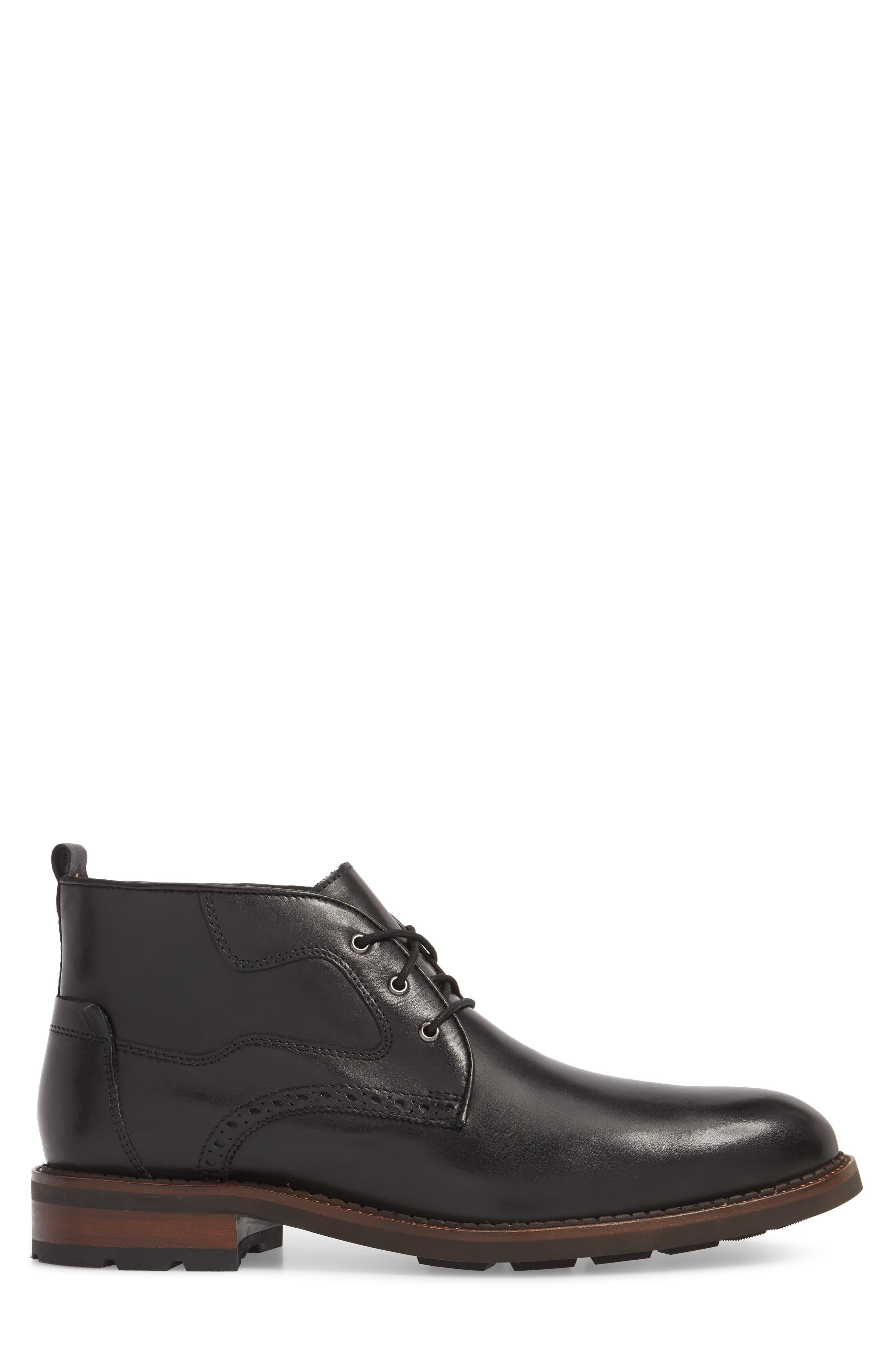 J&M 1850, Fullerton Chukka Boot, Alternate thumbnail 3, color, BLACK