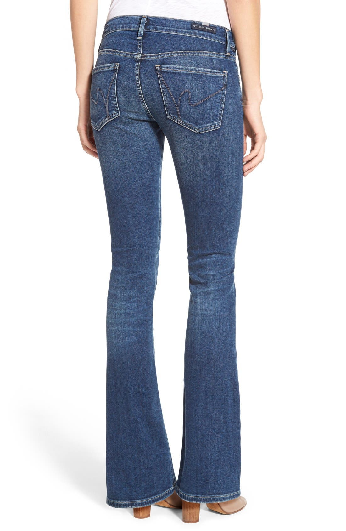 CITIZENS OF HUMANITY, 'Emannuelle' Bootcut Jeans, Alternate thumbnail 5, color, MODERN LOVE