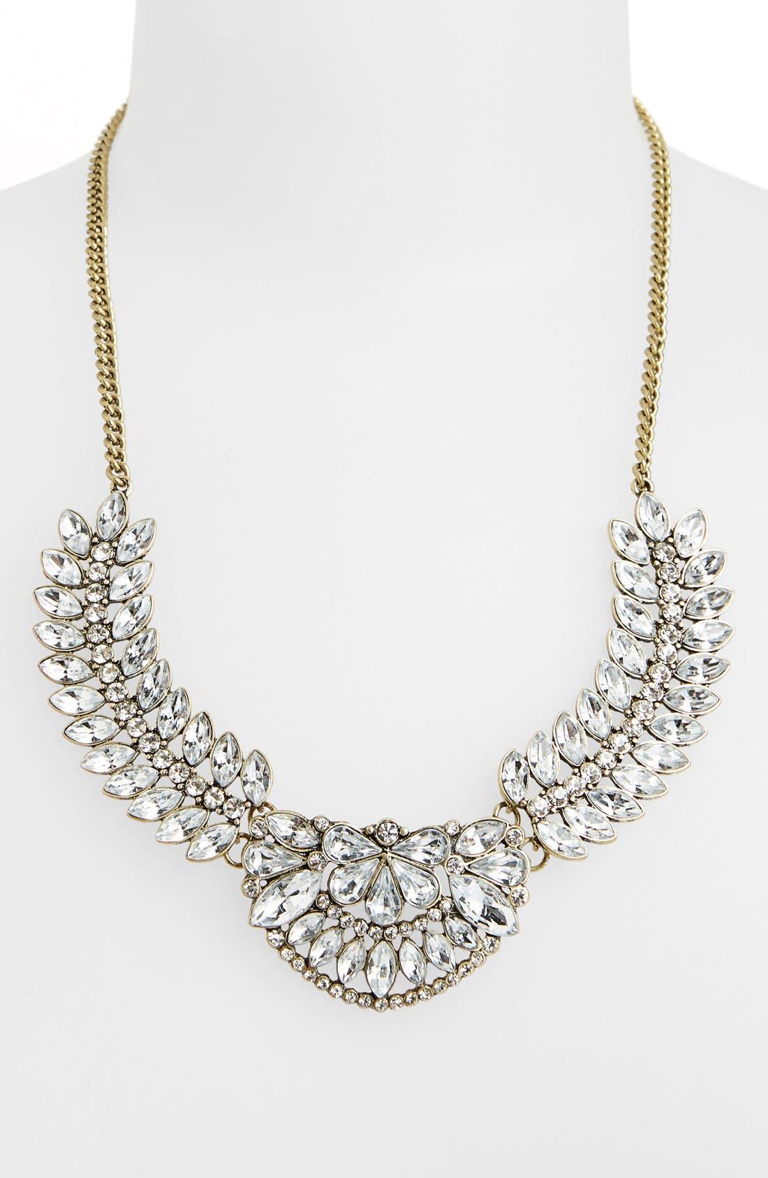 BP., Vintage Crystal Statement Necklace, Main thumbnail 1, color, 100