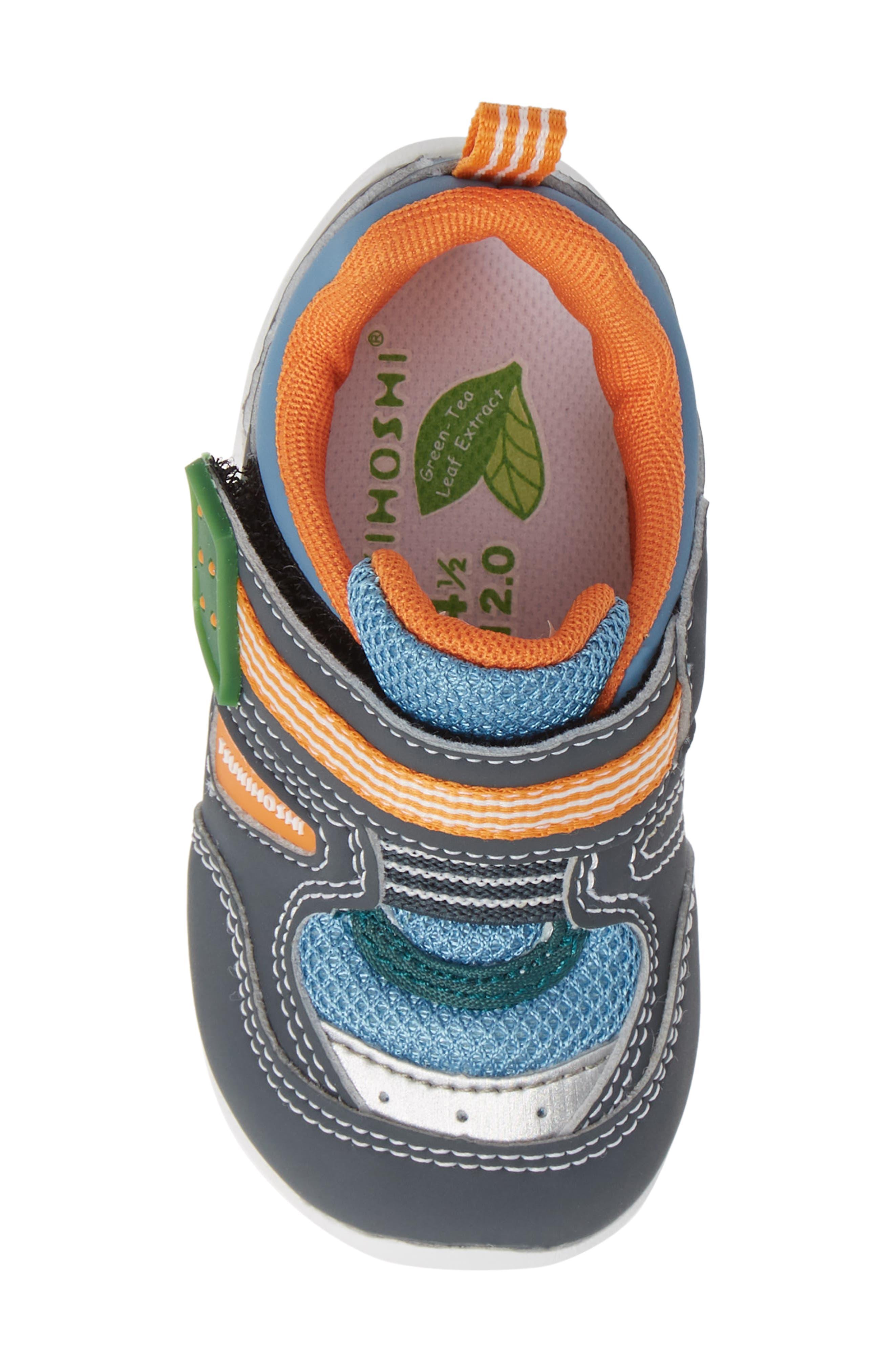 TSUKIHOSHI, Neko Washable Sneaker, Alternate thumbnail 5, color, CHARCOAL/ SEA