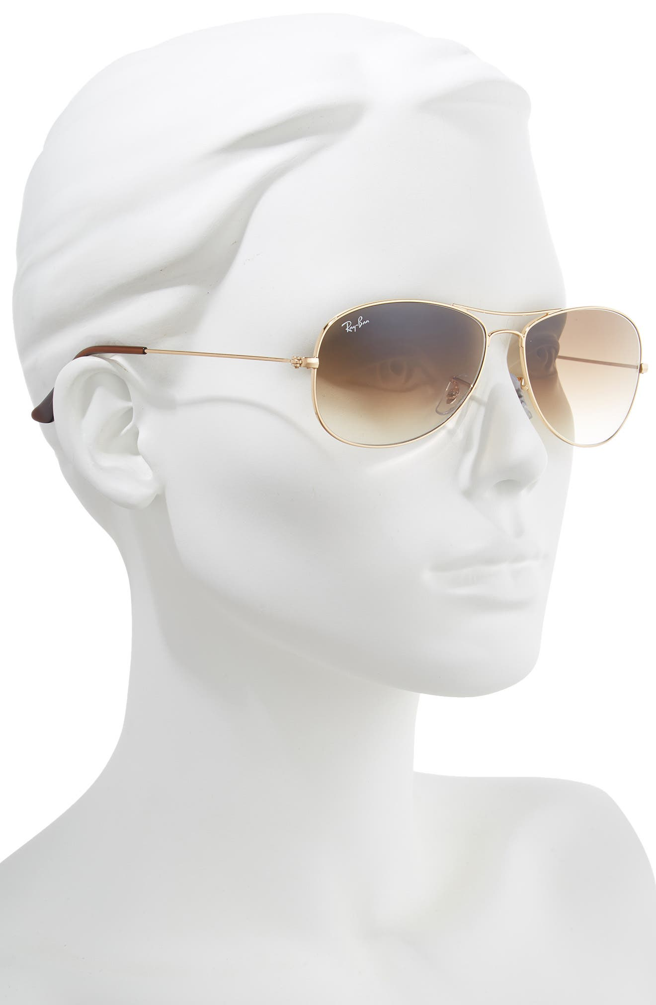 RAY-BAN, New Classic Aviator 59mm Sunglasses, Alternate thumbnail 2, color, GOLD/ BROWN GRADIENT