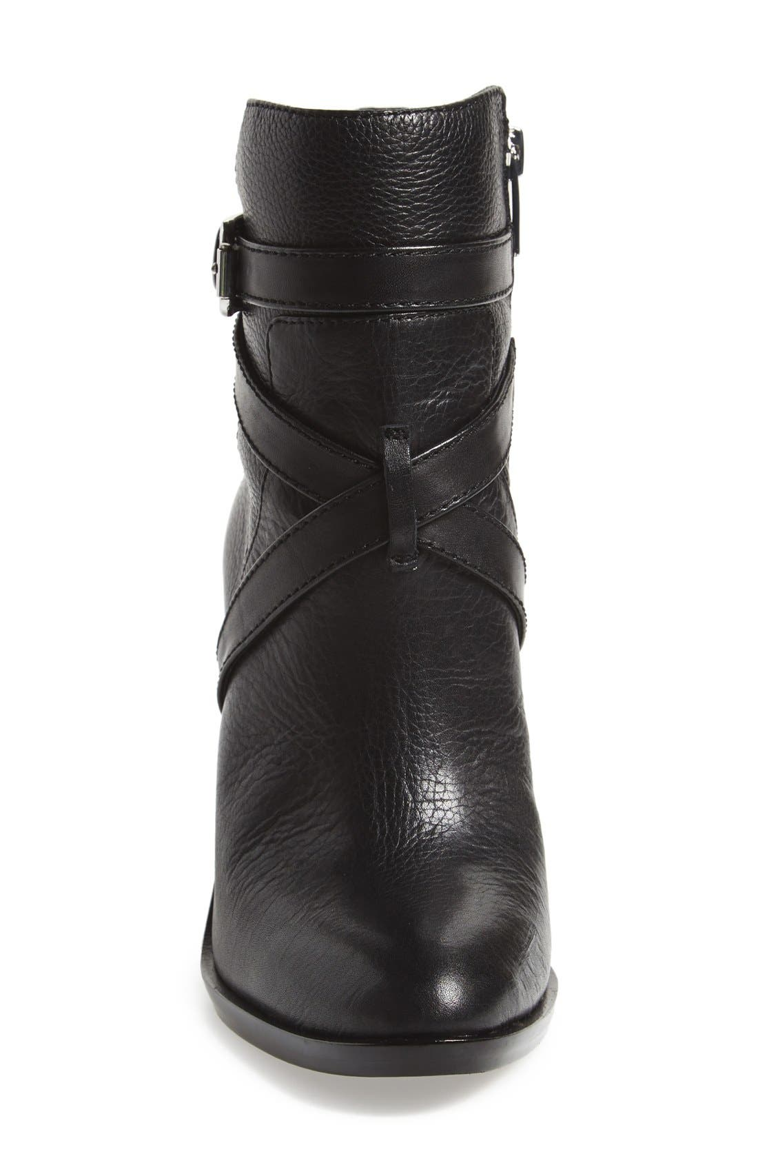 VINCE CAMUTO, 'Gravell' Belted Boot, Alternate thumbnail 3, color, 001