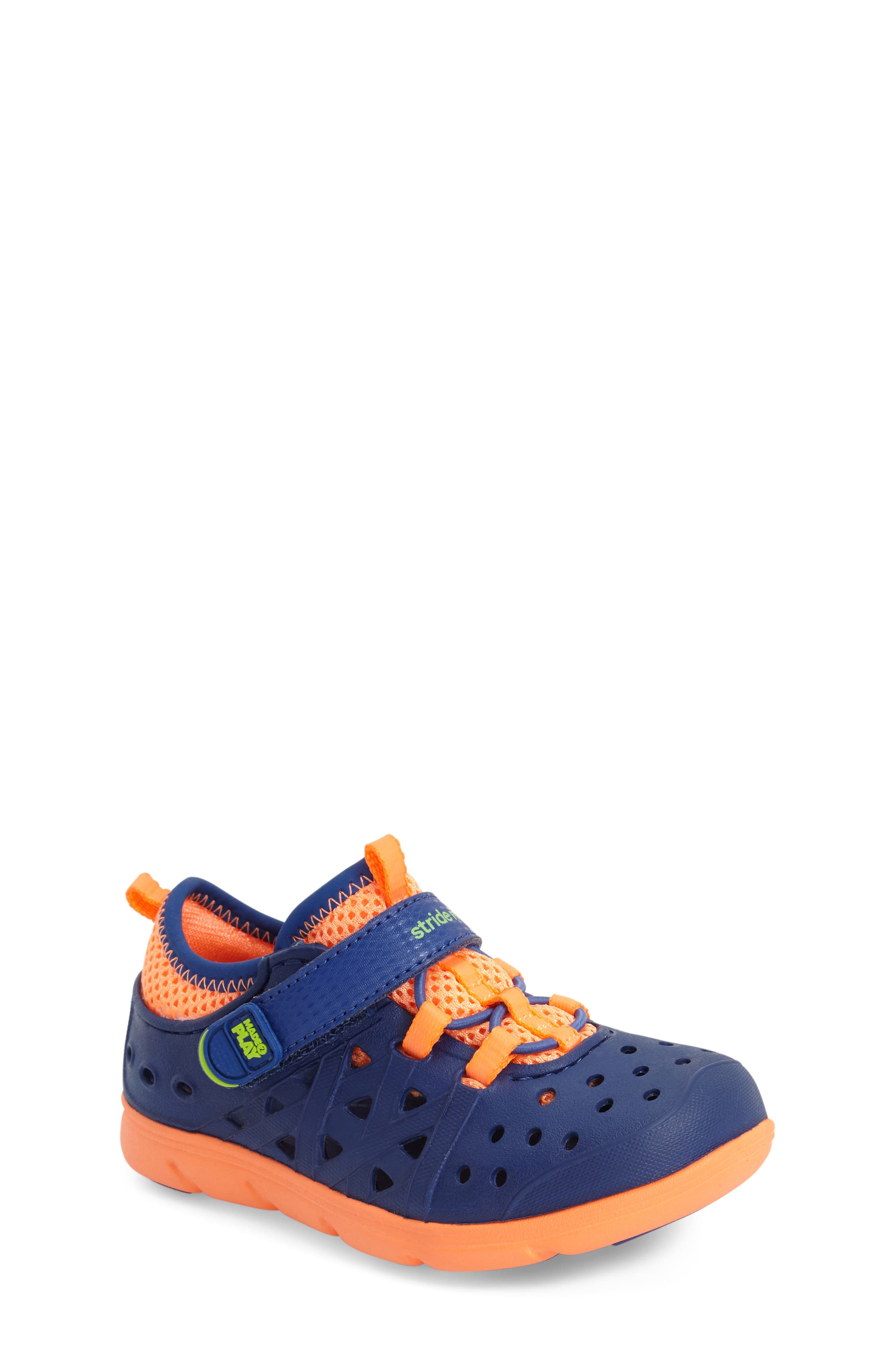 STRIDE RITE, Made2Play<sup>®</sup> Phibian Sneaker, Alternate thumbnail 9, color, NAVY STAR