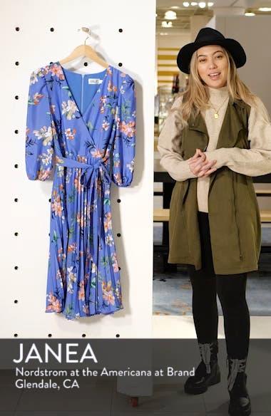 Pleated Faux Wrap Dress, sales video thumbnail