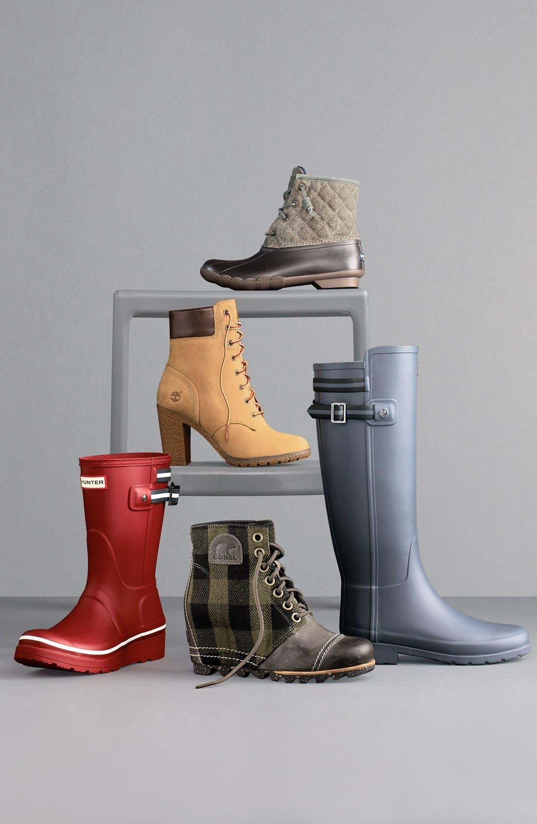 HUNTER, 'Original Refined' Rain Boot, Alternate thumbnail 5, color, 005