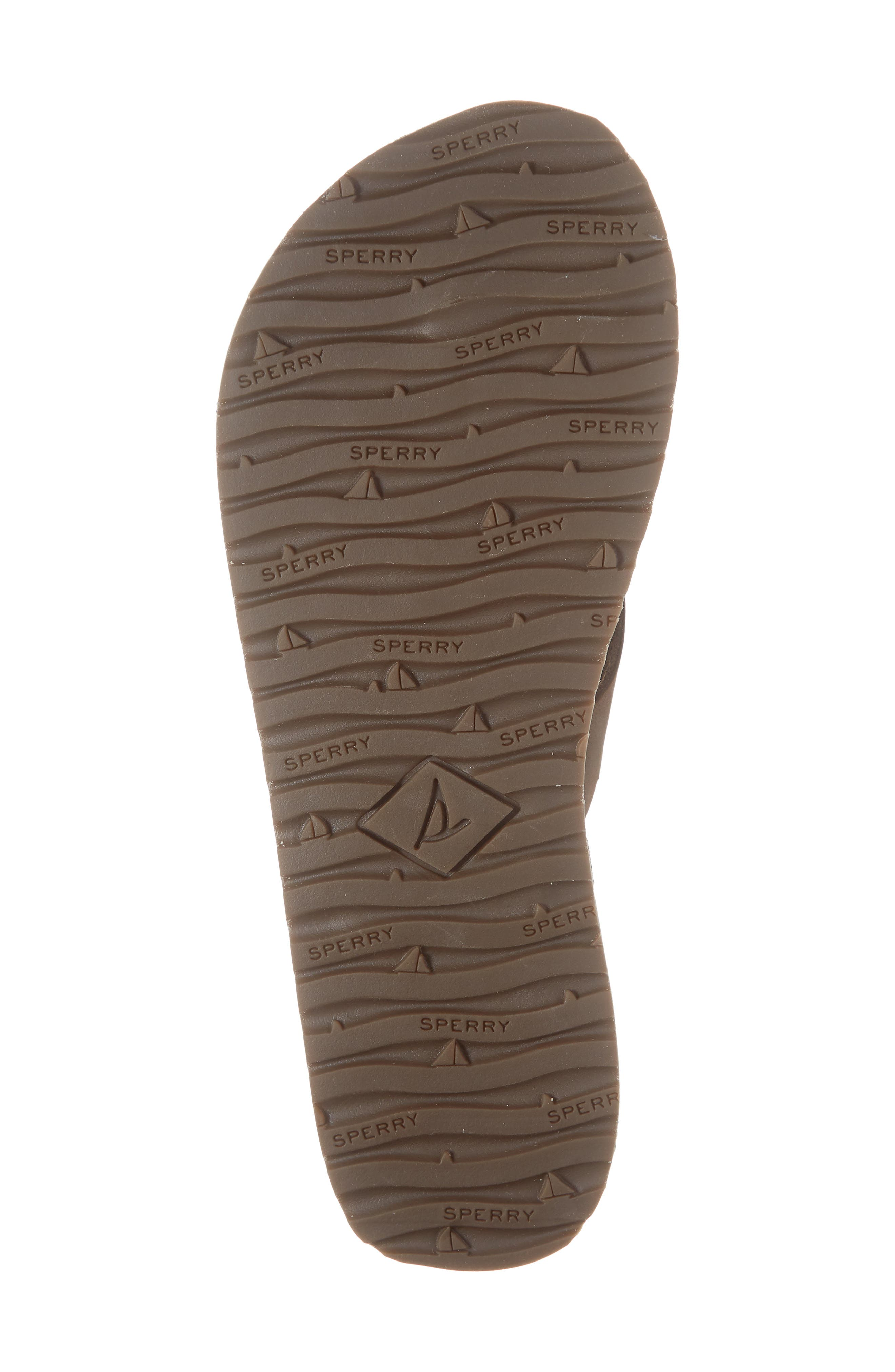 SPERRY, Wharf Flip Flop, Alternate thumbnail 6, color, CHOCOLATE LEATHER