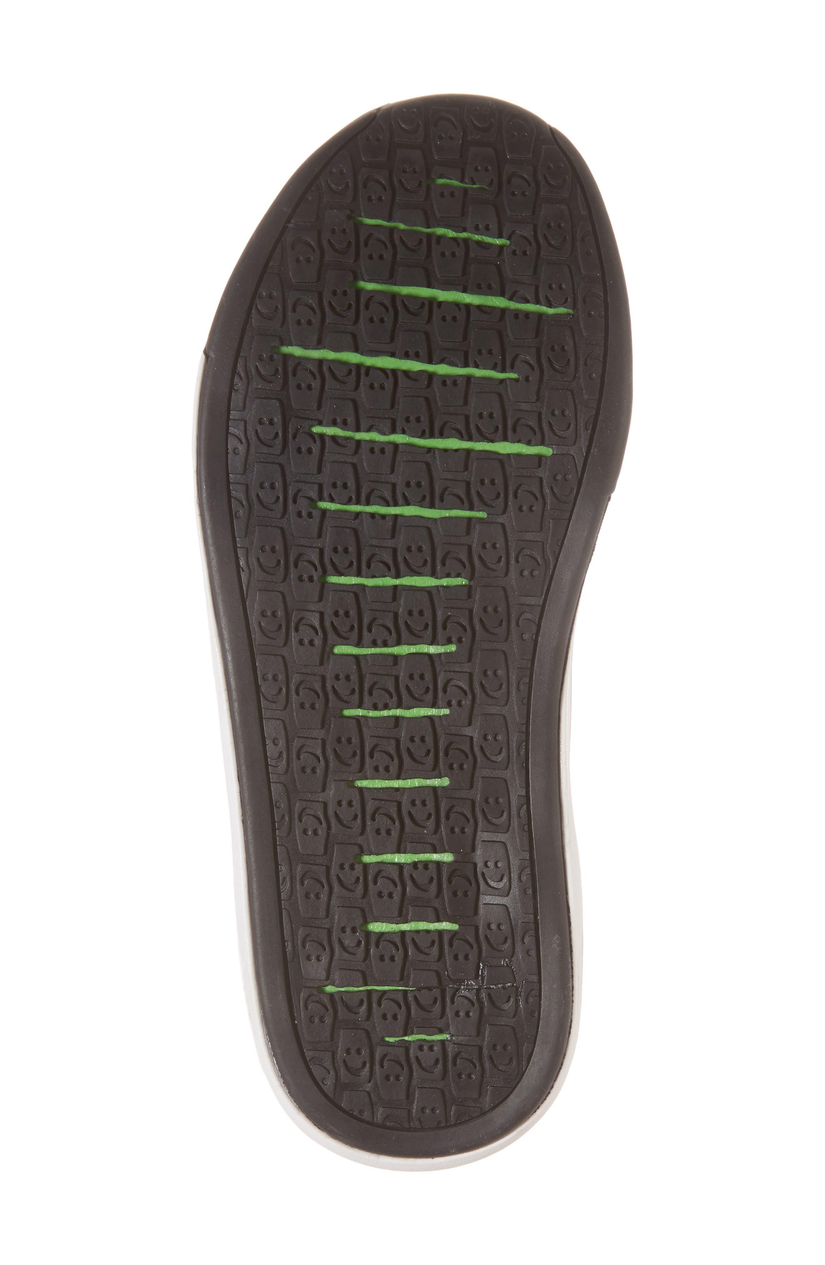 SANUK, Chiba Quest Knit Slip-On Sneaker, Alternate thumbnail 6, color, BLACK