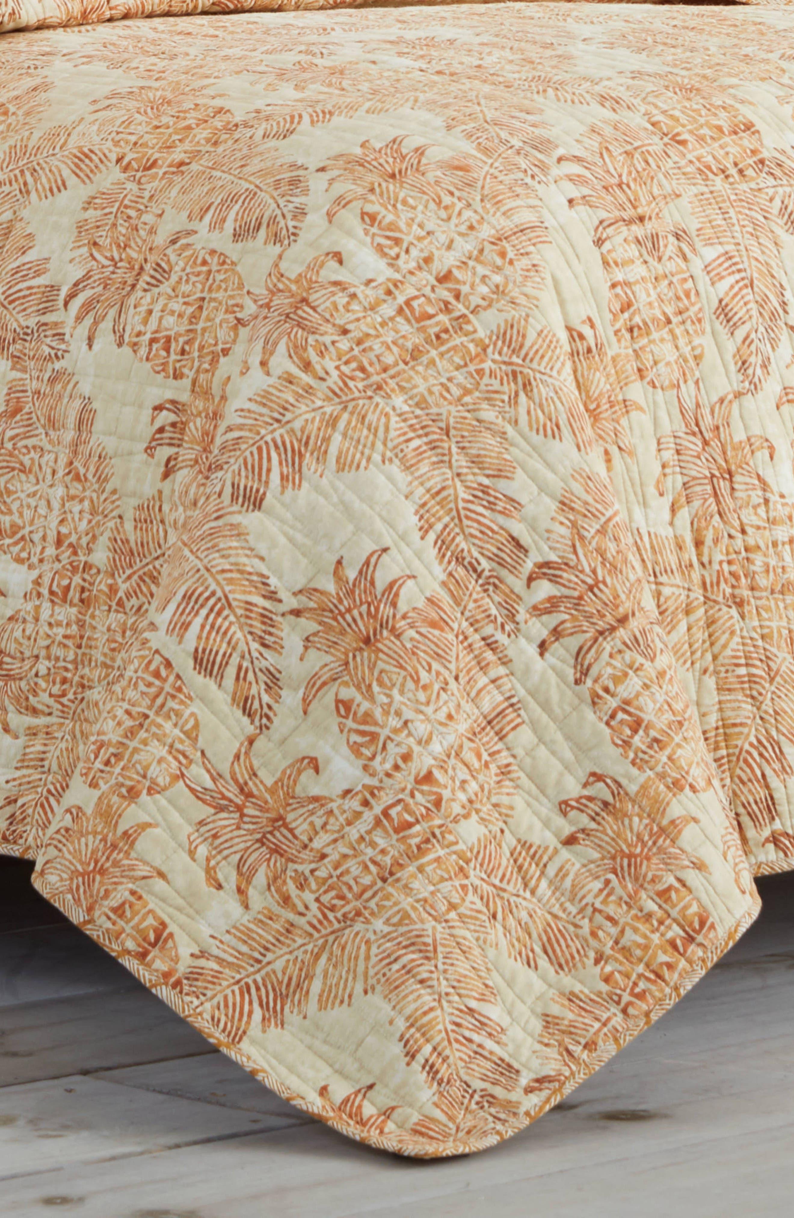 TOMMY BAHAMA, Batik Pineapple Quilt, Alternate thumbnail 2, color, SIENNA