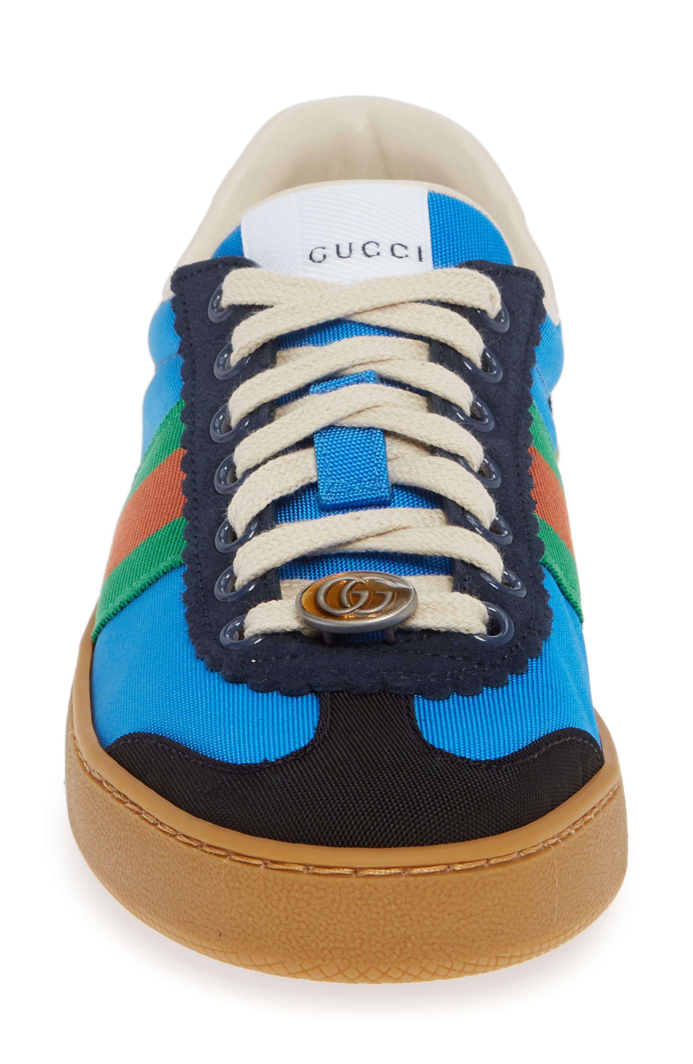 GUCCI, G74 Low Top Sneaker, Alternate thumbnail 4, color, 400