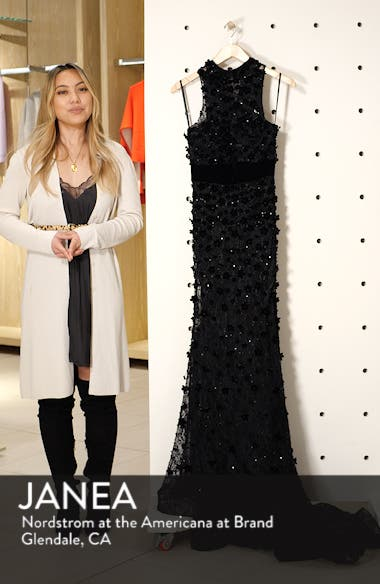 3D Lace Evening Dress with Train, sales video thumbnail