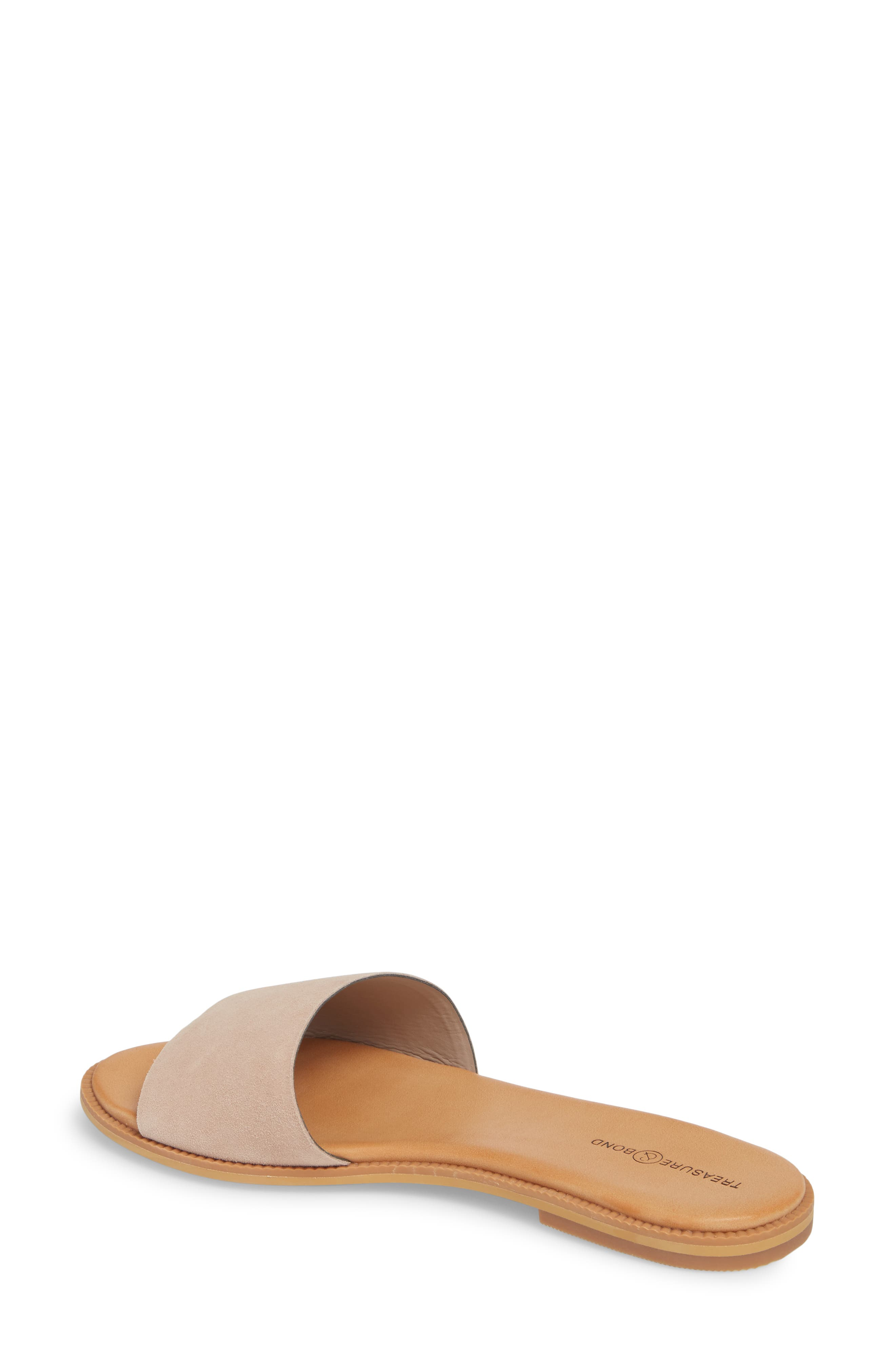 TREASURE & BOND, Mere Flat Slide Sandal, Alternate thumbnail 2, color, NEW BLUSH SUEDE