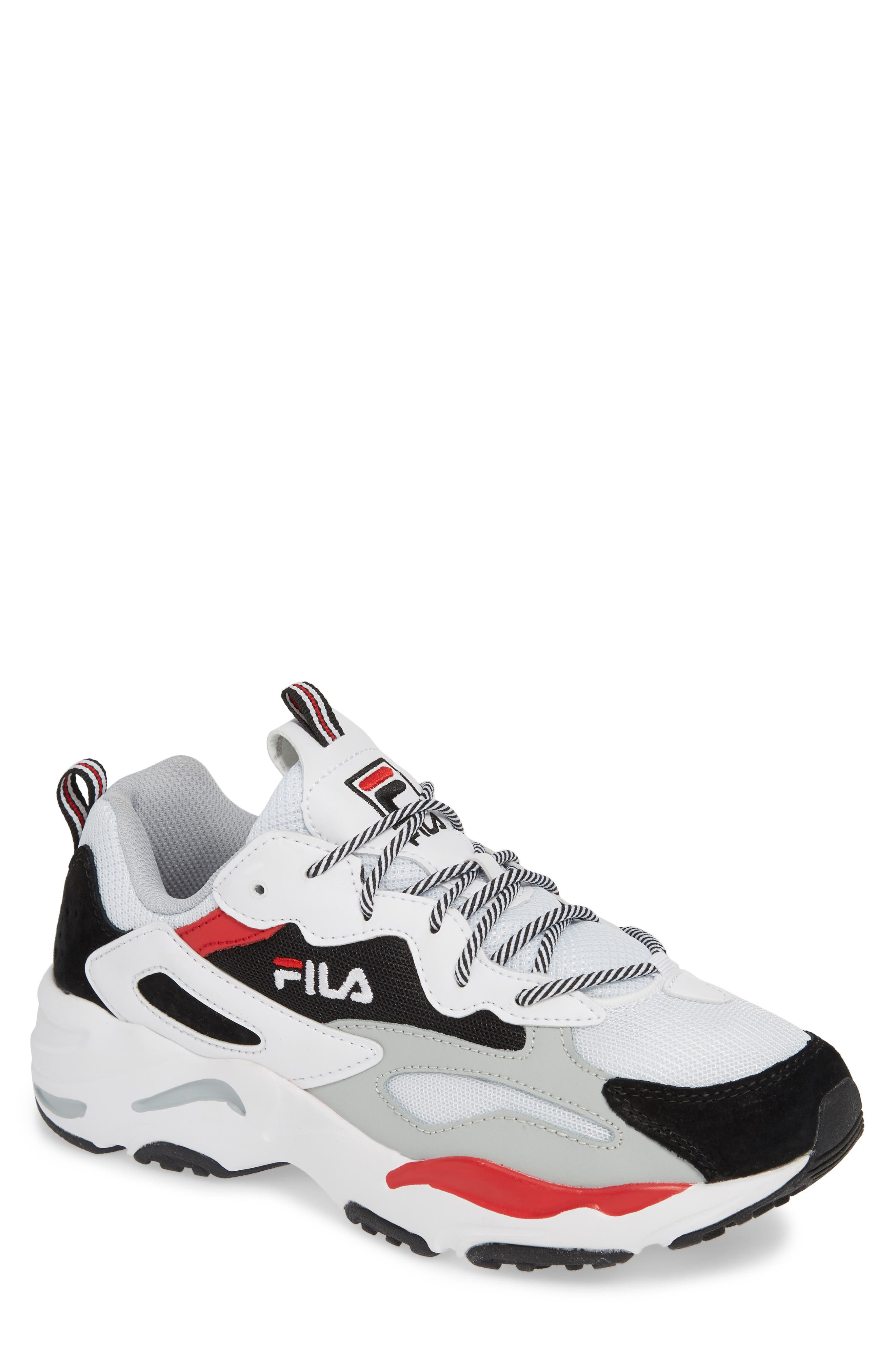 FILA, Ray Tracer Sneaker, Main thumbnail 1, color, WHITE/ BLACK