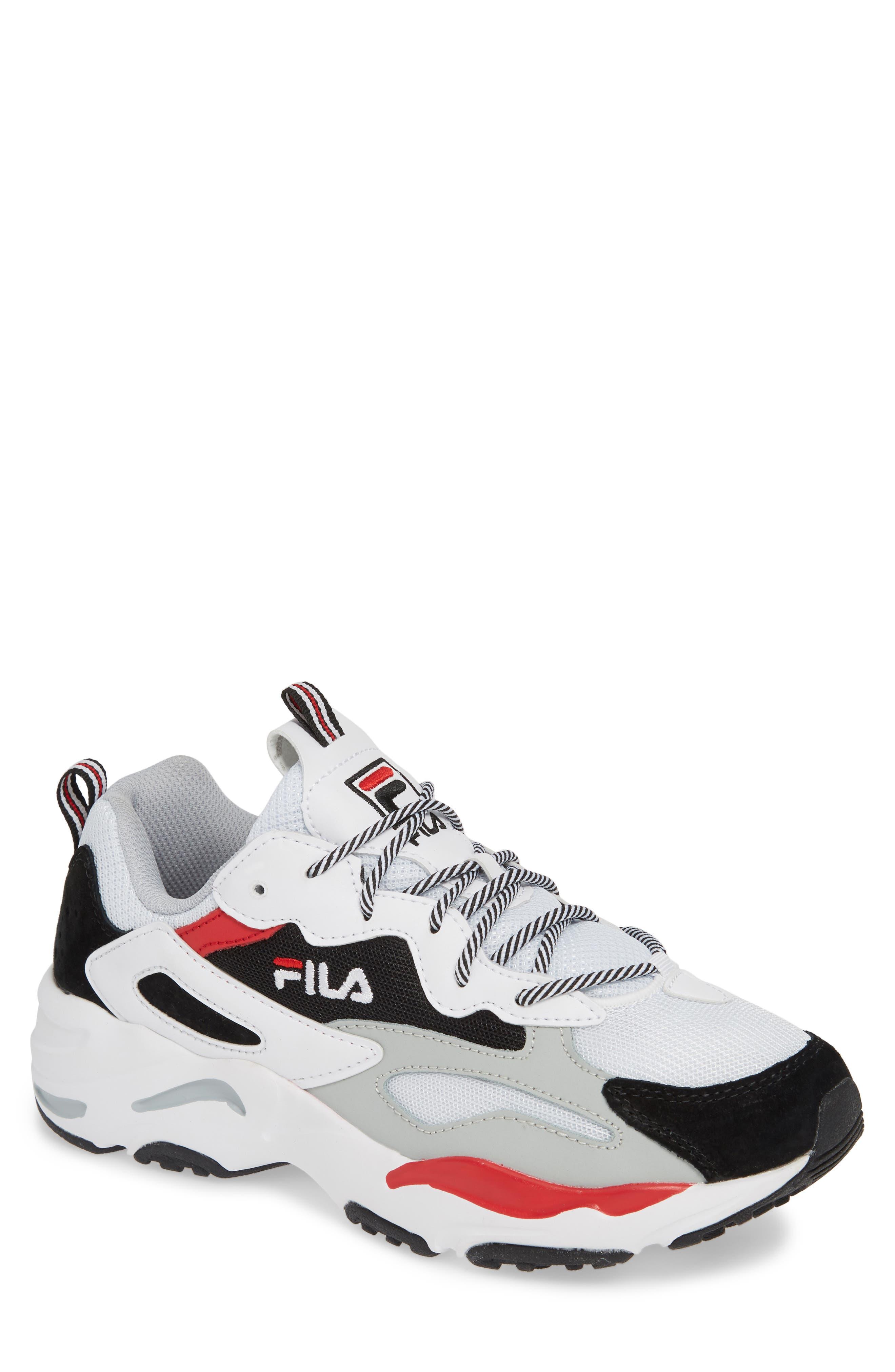FILA Ray Tracer Sneaker, Main, color, WHITE/ BLACK