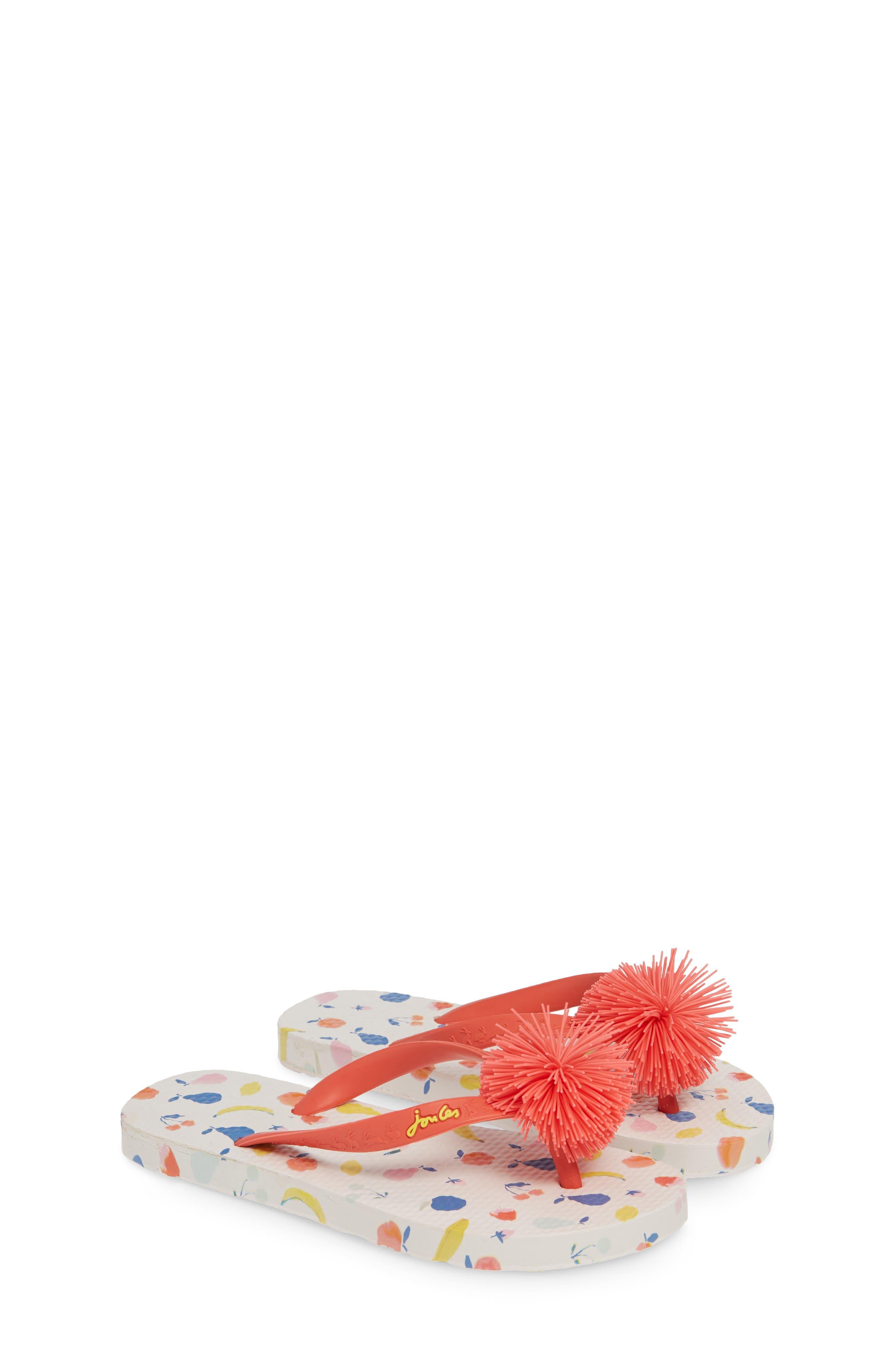 JOULES, Embellished Flip Flop, Alternate thumbnail 2, color, WHITE PETALS