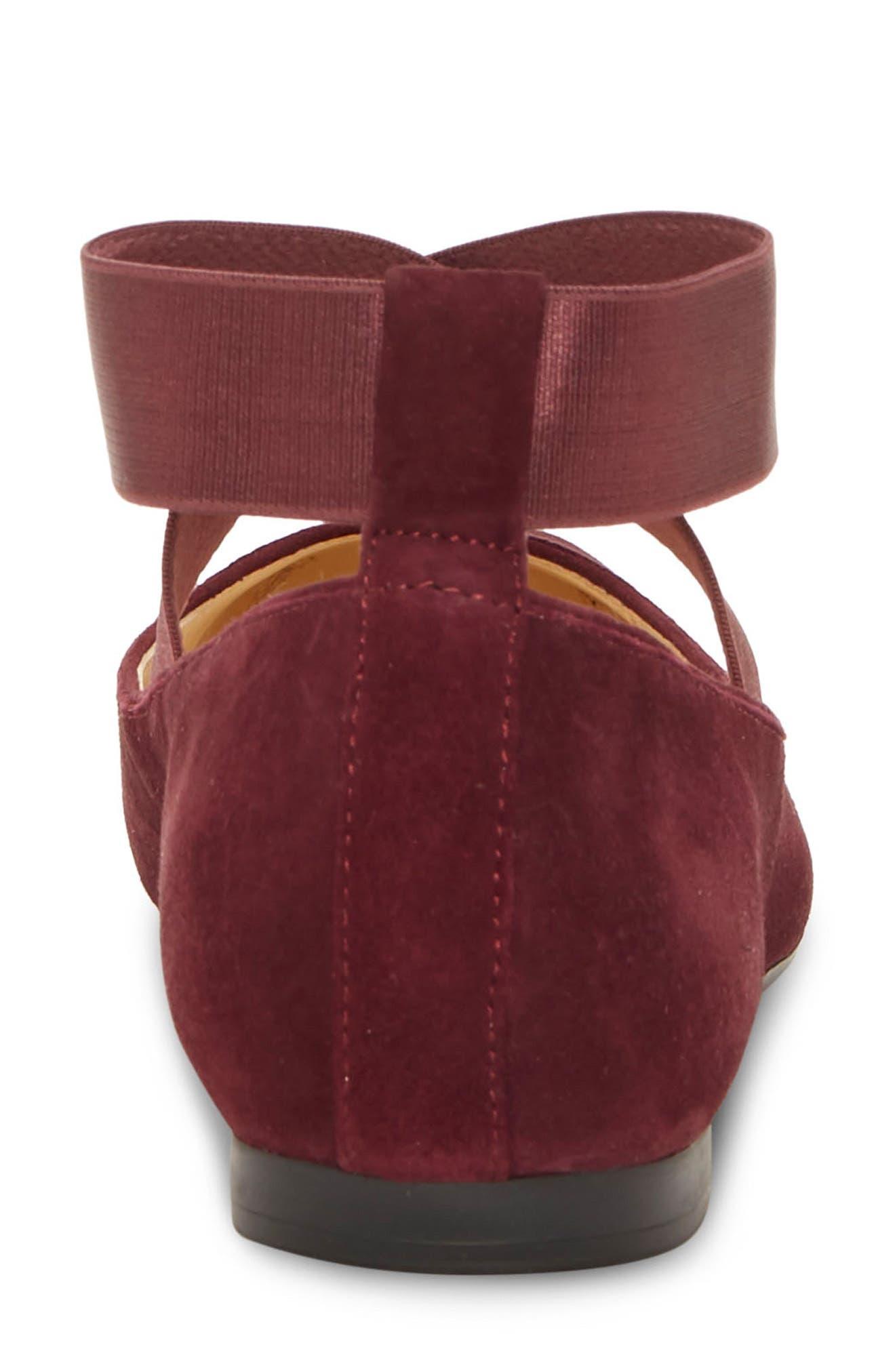 JESSICA SIMPSON, 'Mandalaye' Leather Flat, Alternate thumbnail 7, color, 501