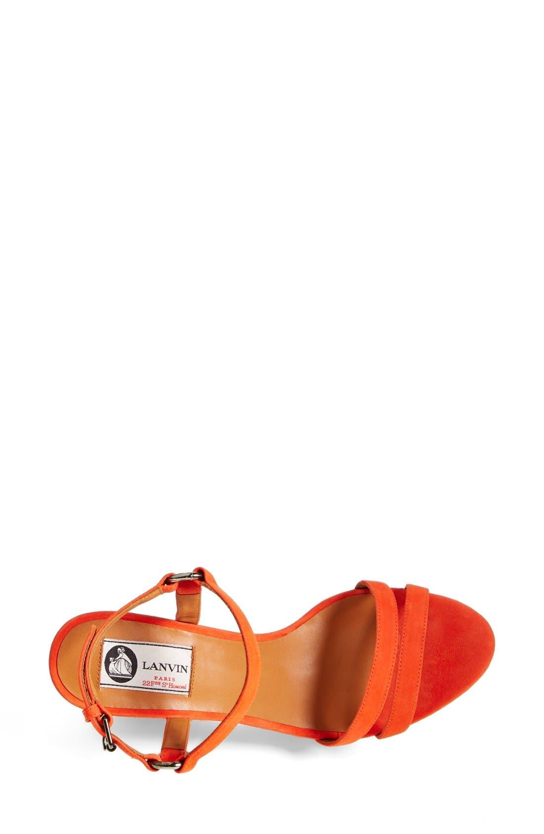 LANVIN, Espadrille Wedge Sandal, Alternate thumbnail 3, color, 800