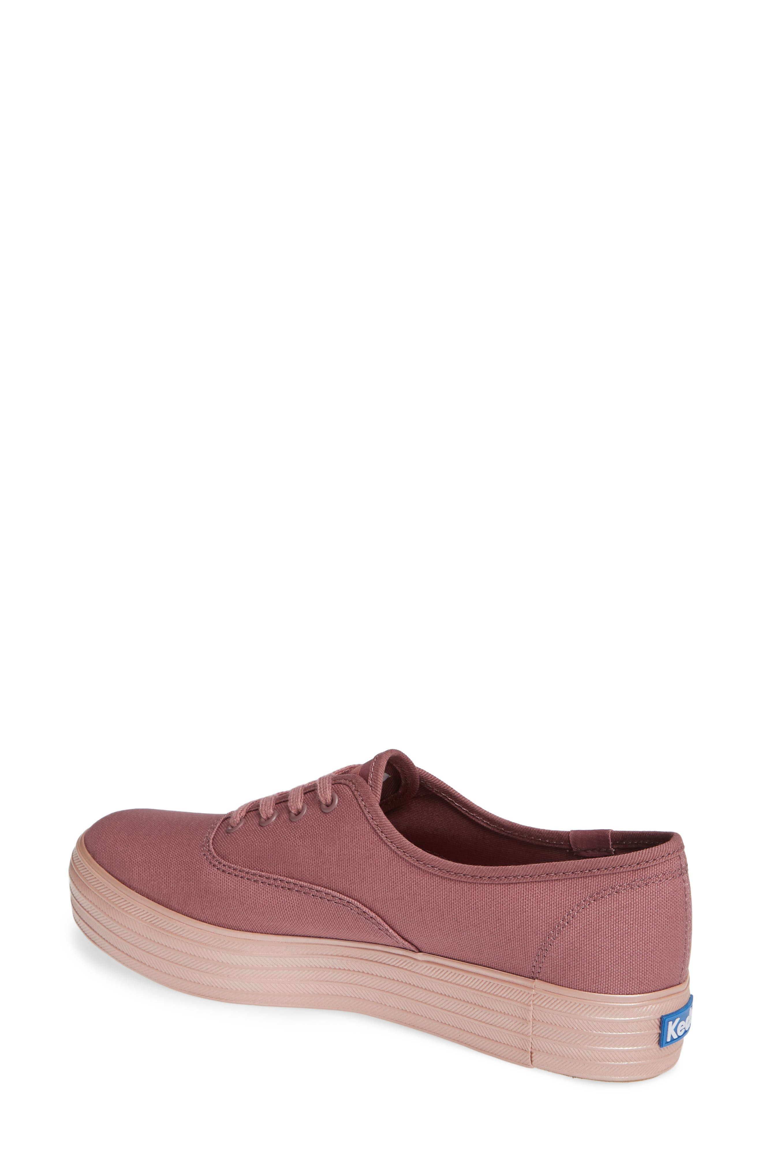 KEDS<SUP>®</SUP>, Triple Shimmer Sneaker, Alternate thumbnail 2, color, MAUVE