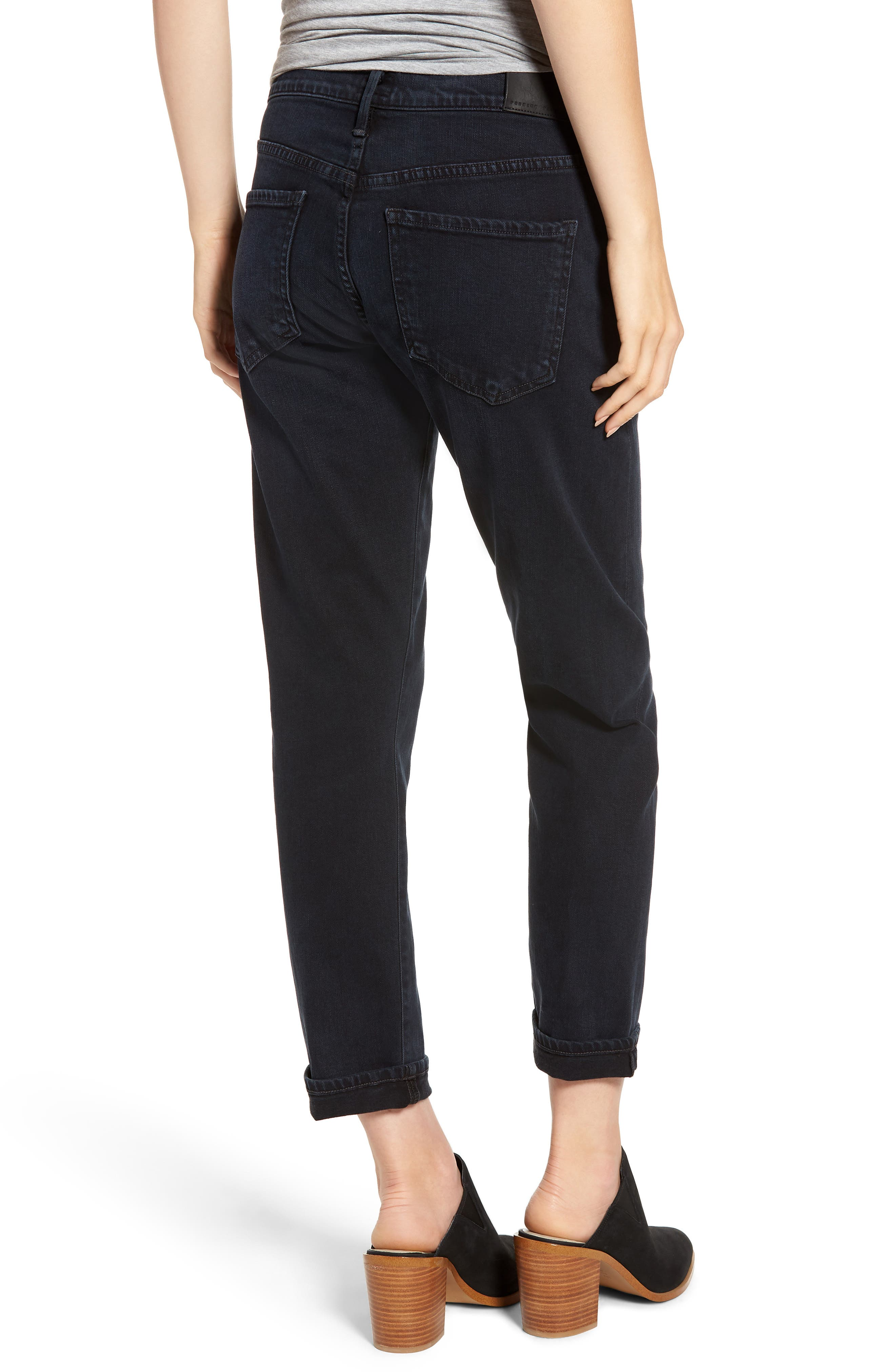 CITIZENS OF HUMANITY, Emerson Slim Boyfriend Jeans, Alternate thumbnail 2, color, NIGHT SHADE