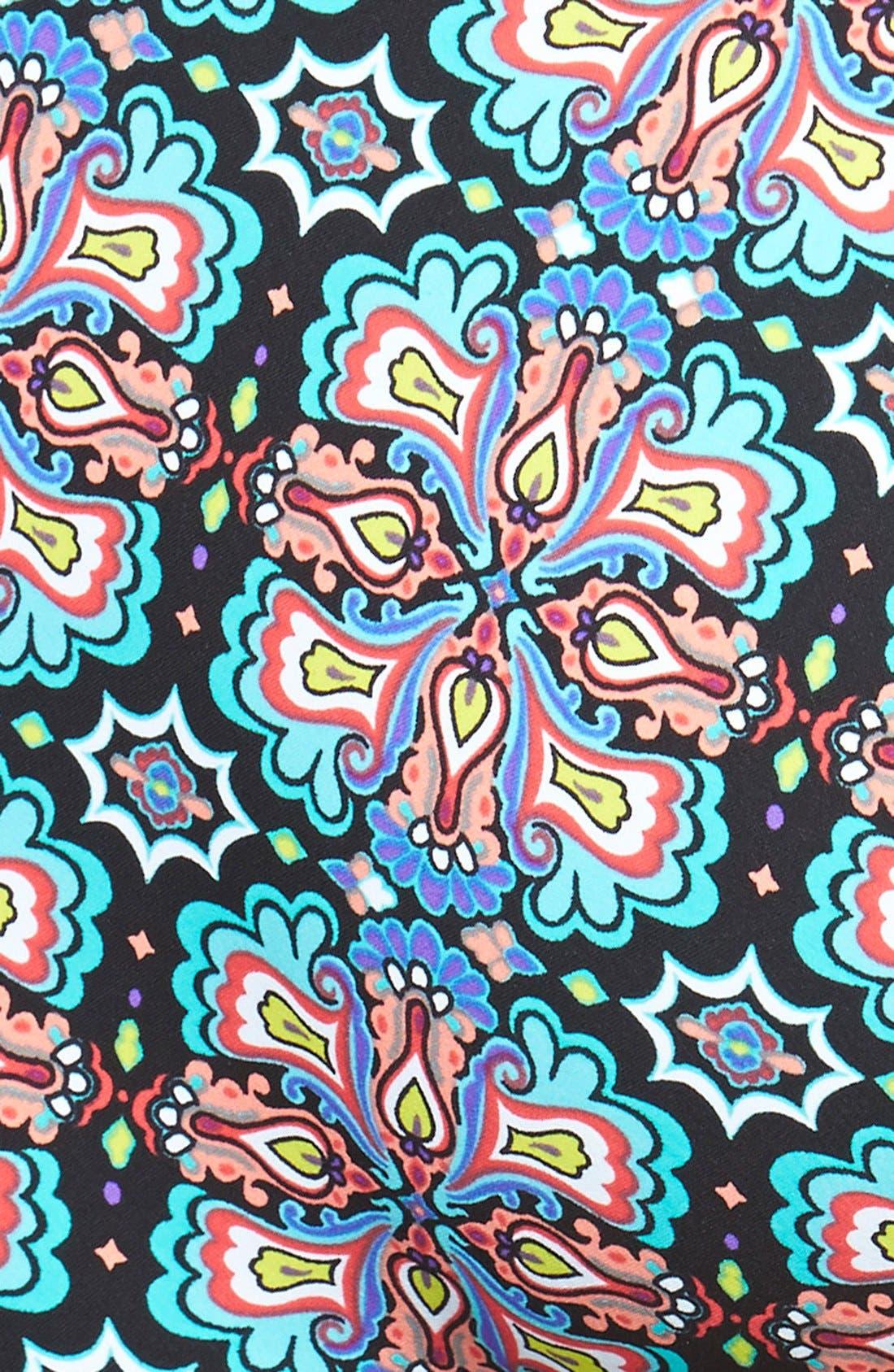 NANETTE LEPORE, 'Paloma Goddess' One-Piece Halter Swimsuit, Alternate thumbnail 2, color, 001